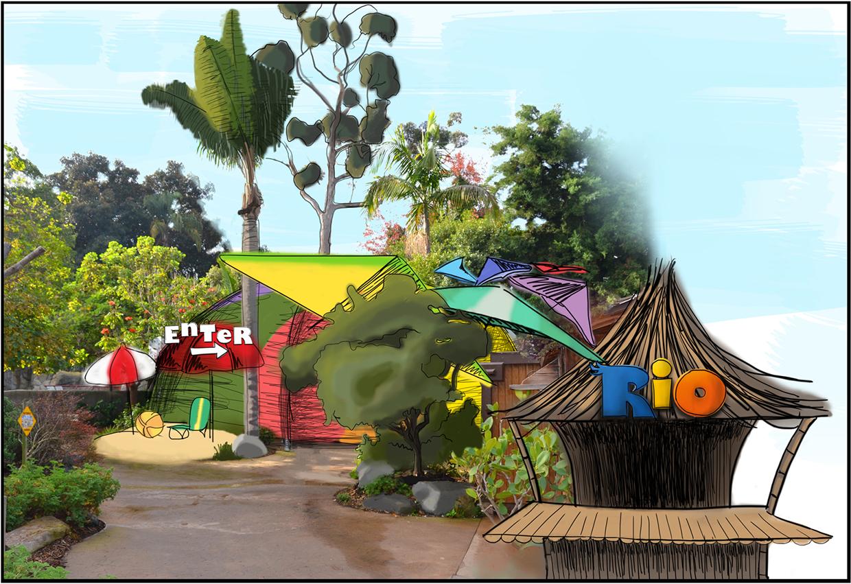 Concept 1 - BeachThemed Environment