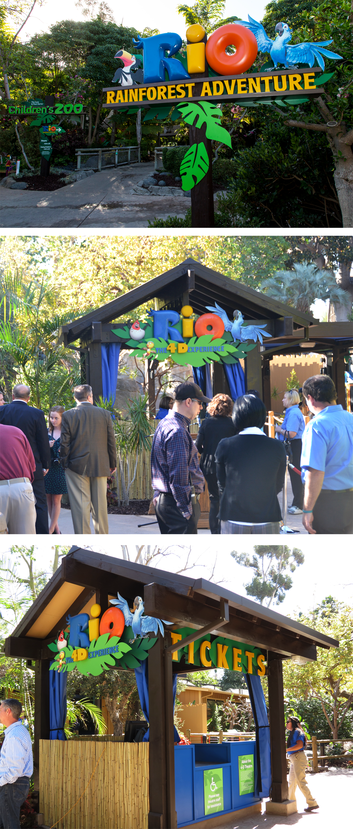 On Site Photos  Final San Diego Zoo Theming