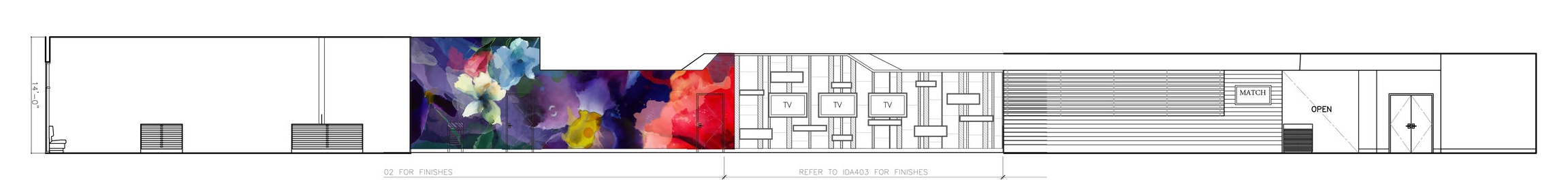 West Gaming Floor Wall Elevation
