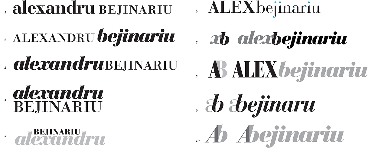 Initial Wordmark Ideations