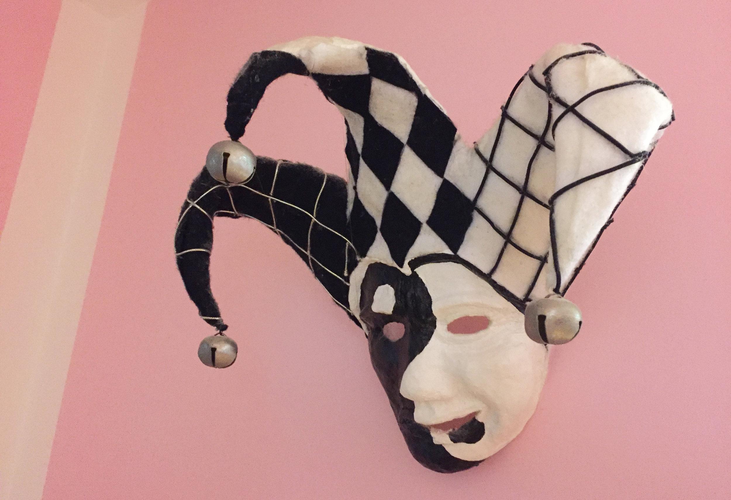 Yin-Yang Jester Mask