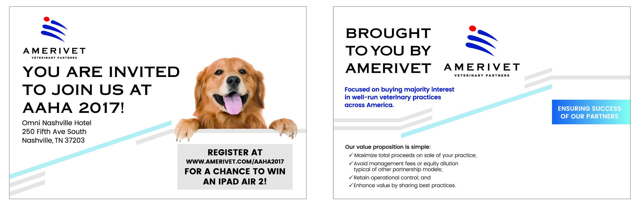 AmeriVet Conference Invite 8.5x5.5 (left) Font Side (right) Left Side
