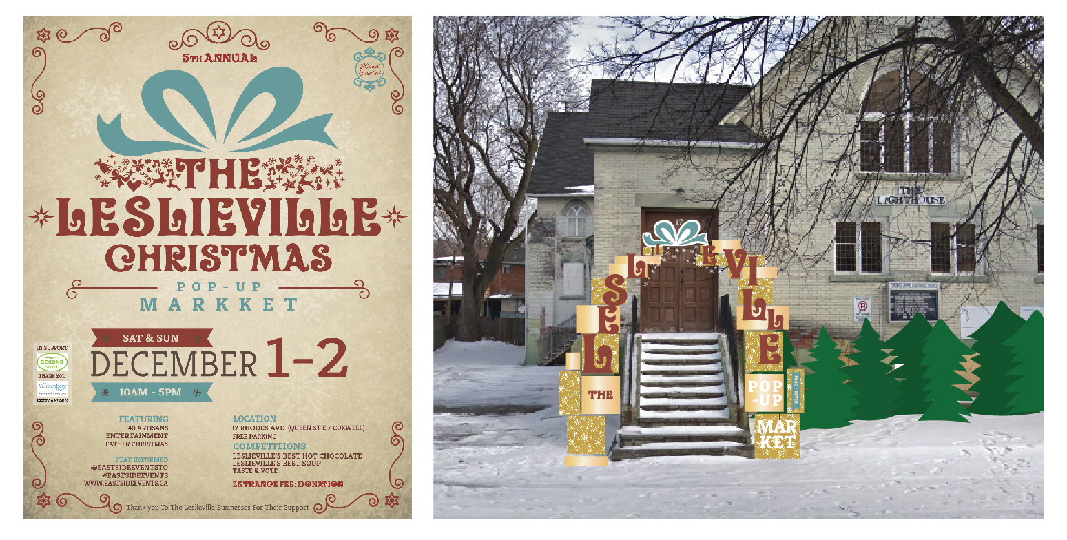 Event Poster (left) Installation Mock-Up (right)