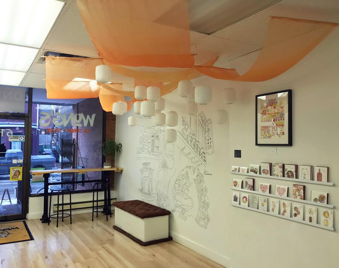 Wong's Ice-Cream Installation Mural