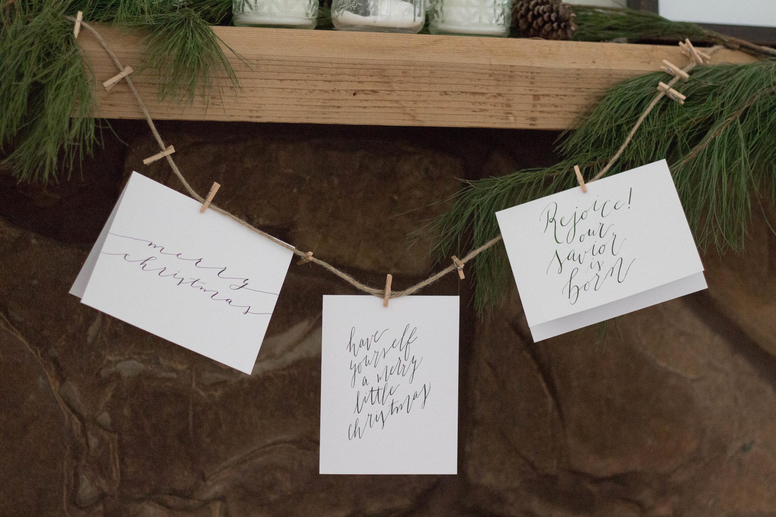 Calligraphy Christmas Cards