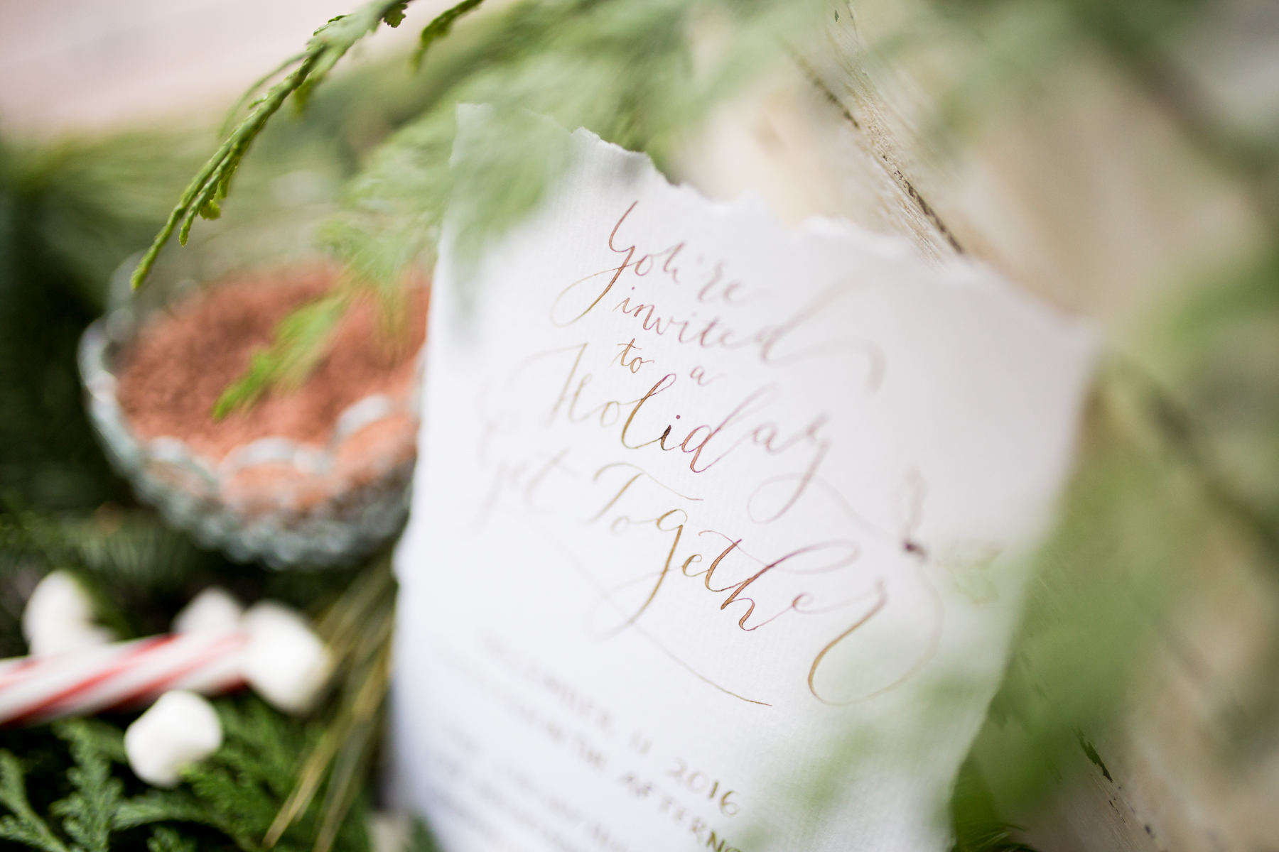 Holiday Party Calligraphy Invitation