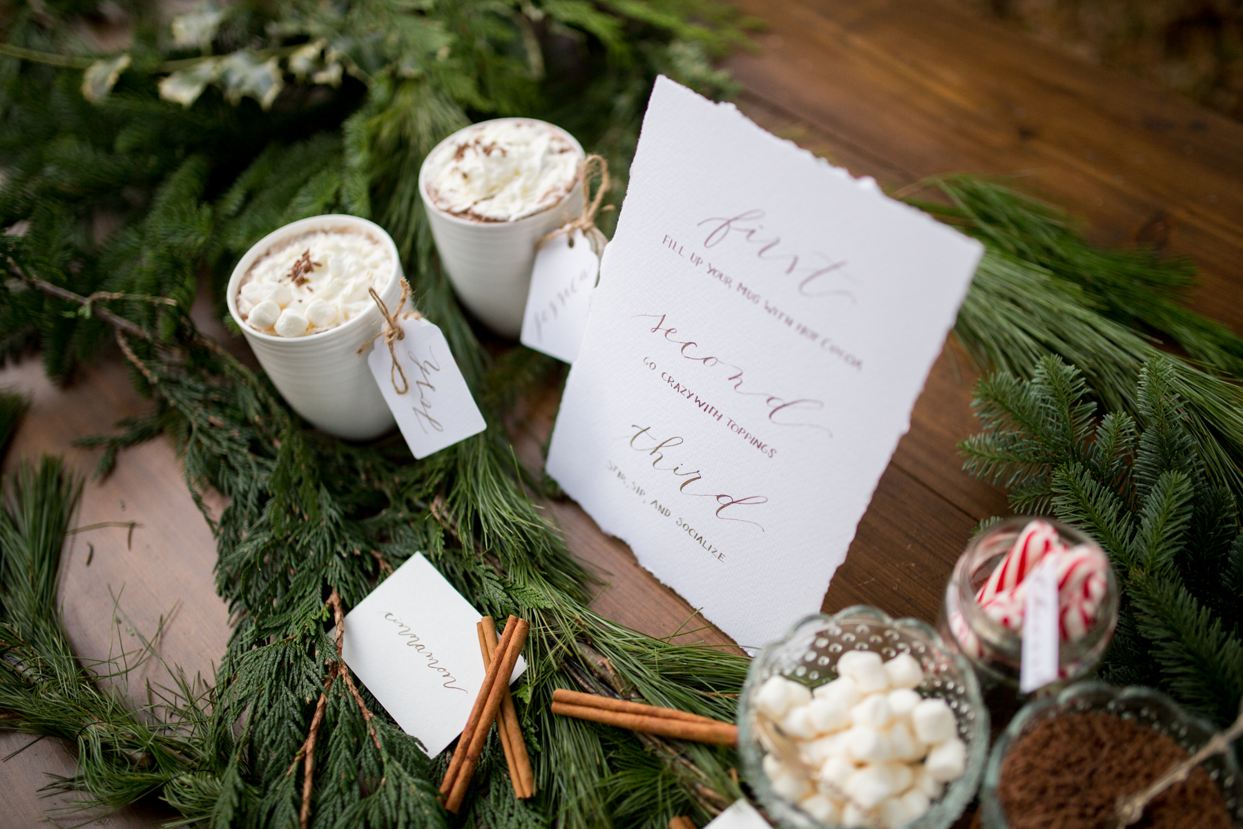 Hot Chocolate Bar Calligraphy Signs