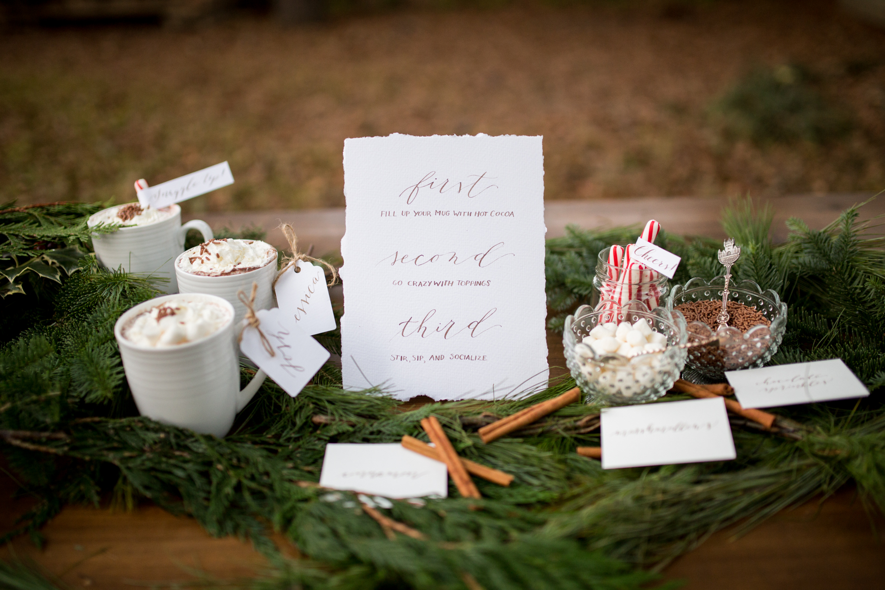 Calligraphy Christmas Styled Shoot