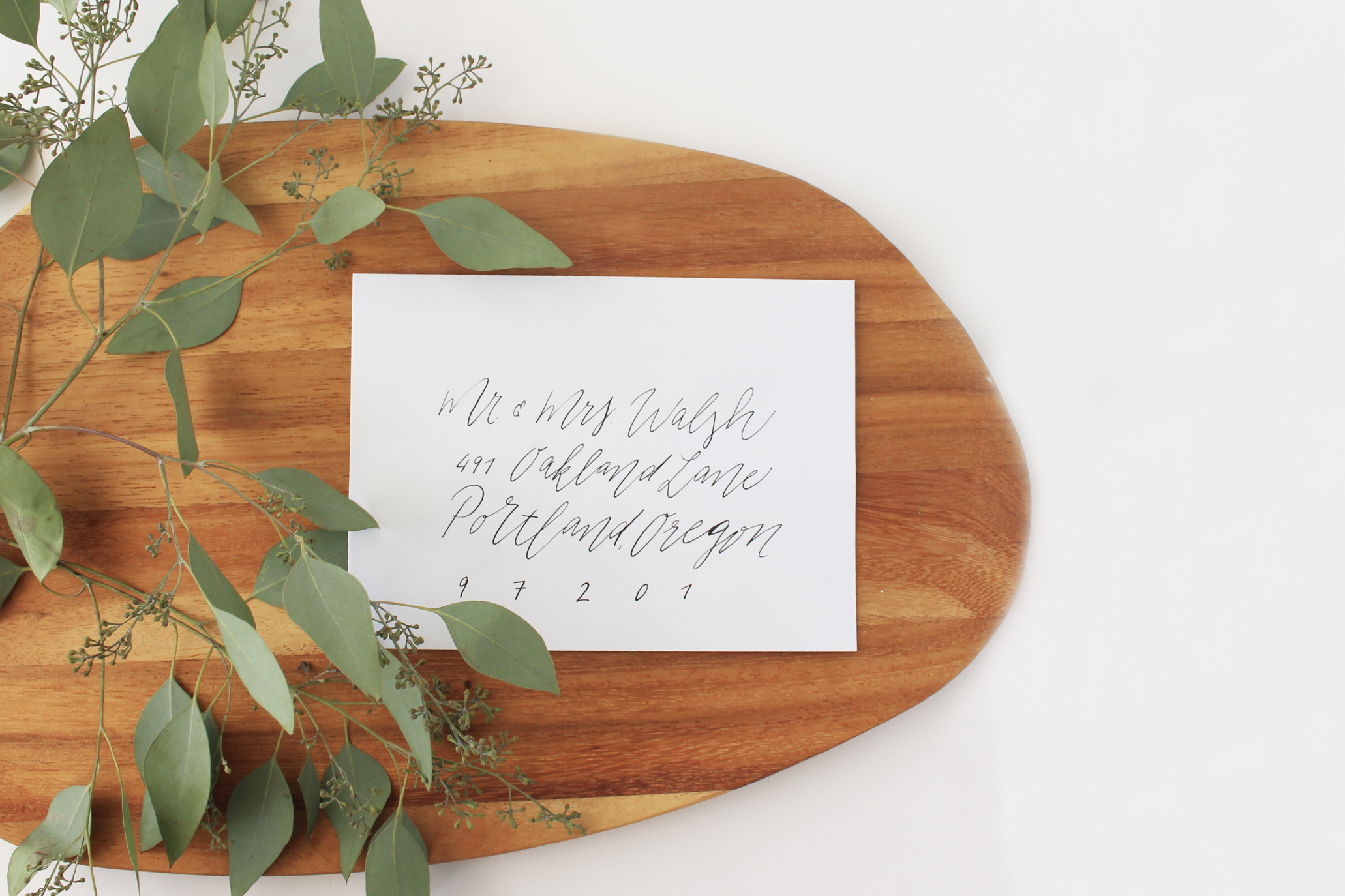 Minimalist Envelope Calligraphy