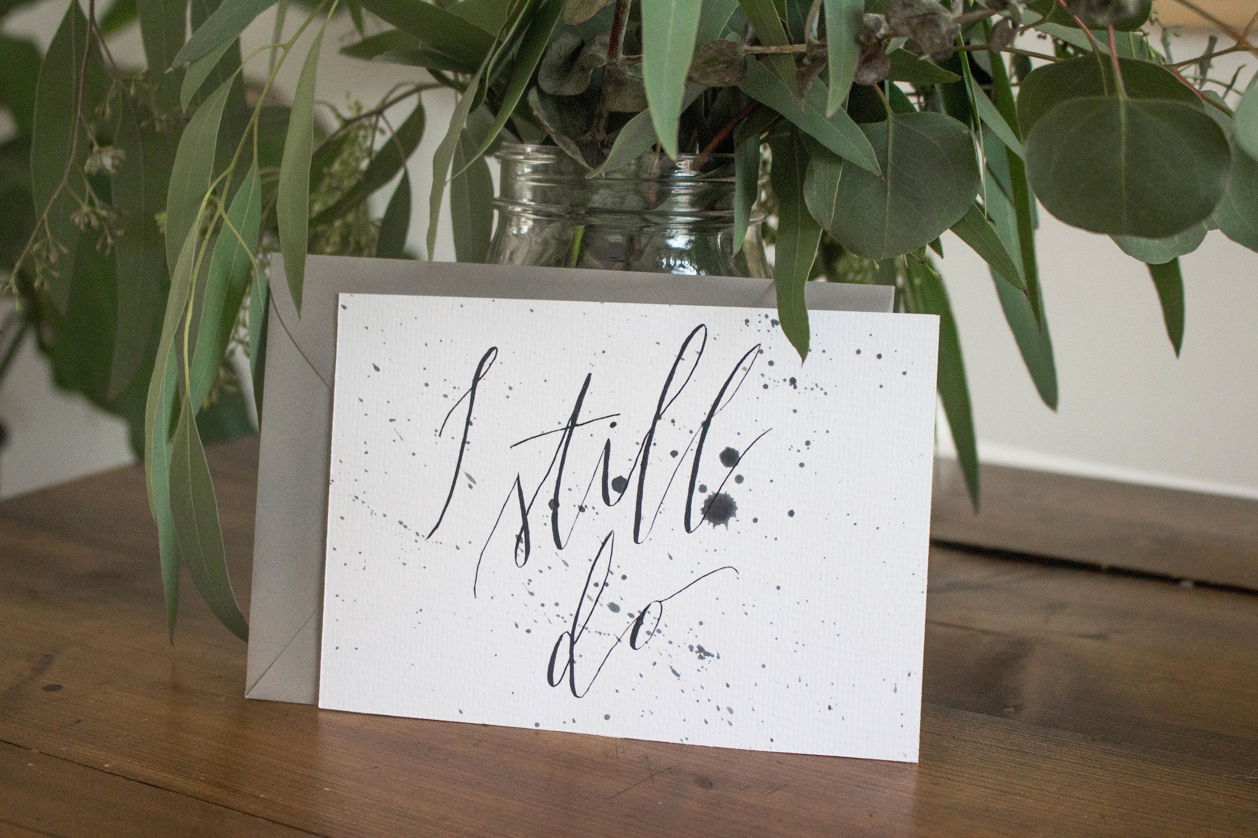 Minimalist Black and White Calligraphy