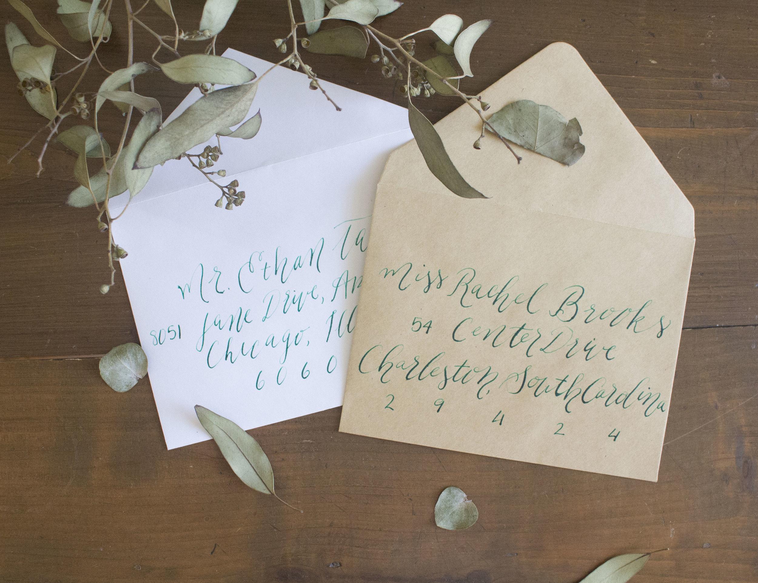 Kraft Paper Envelope Calligraphy