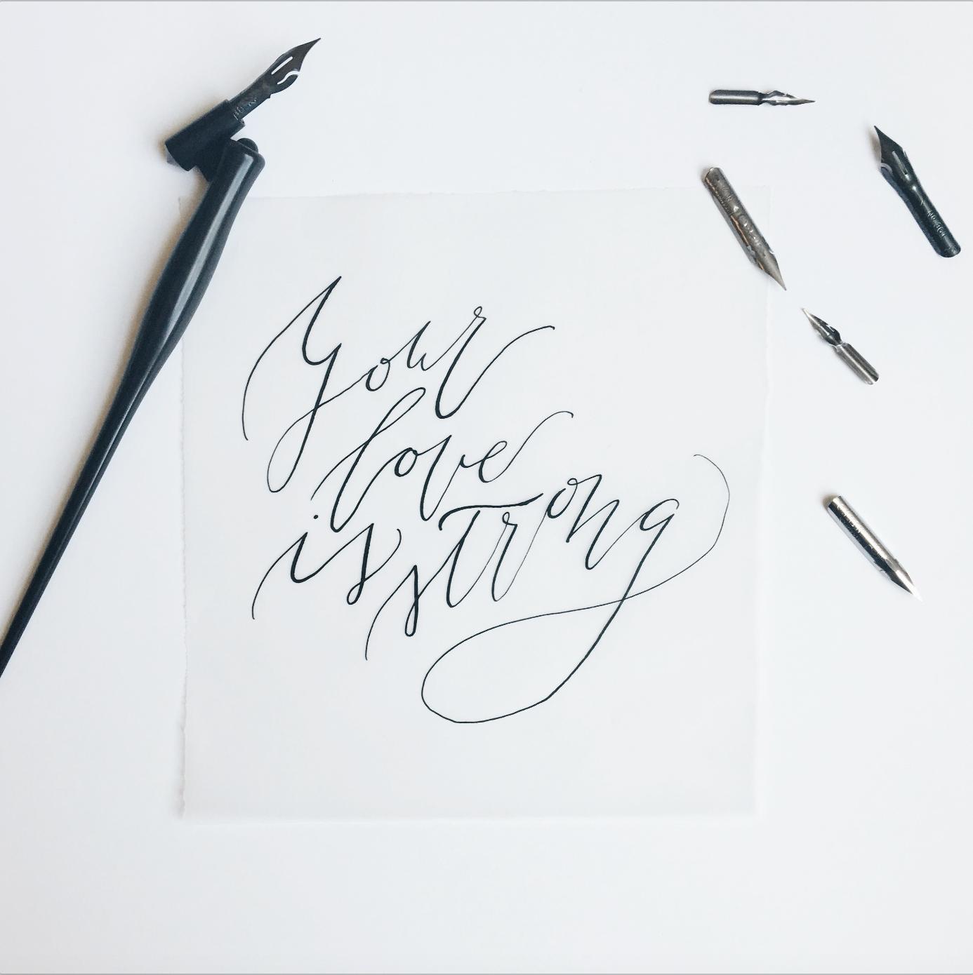 Organic Calligraphy Quote