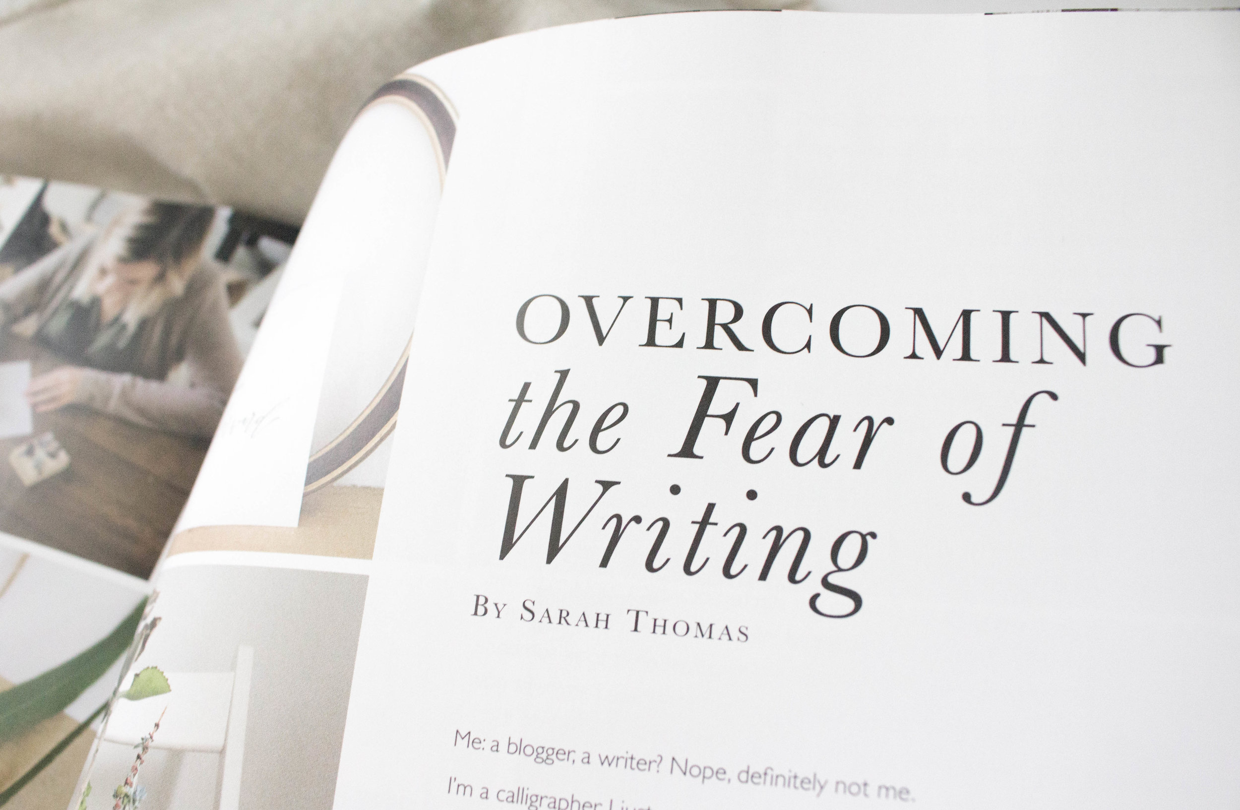 Overcoming the Fear of Writing - Sarah Thomas of True North Paper Co featured in Artful Blogging Summer 2017 Issue