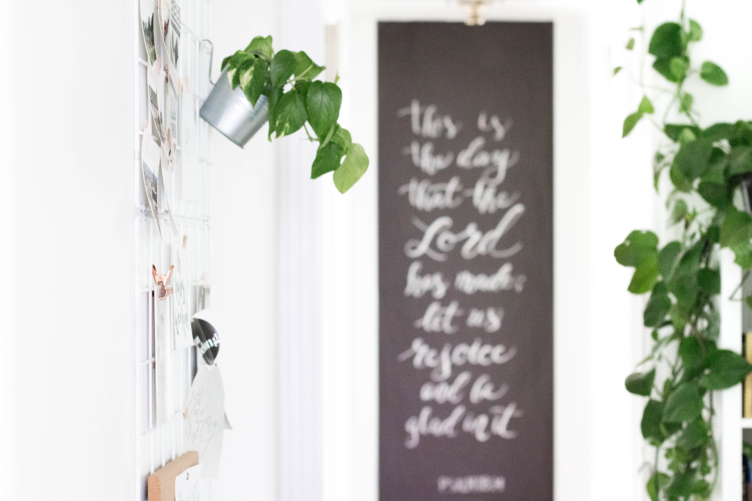 Chalk Sign Bible Verse written in Calligraphy - True North Paper Co.