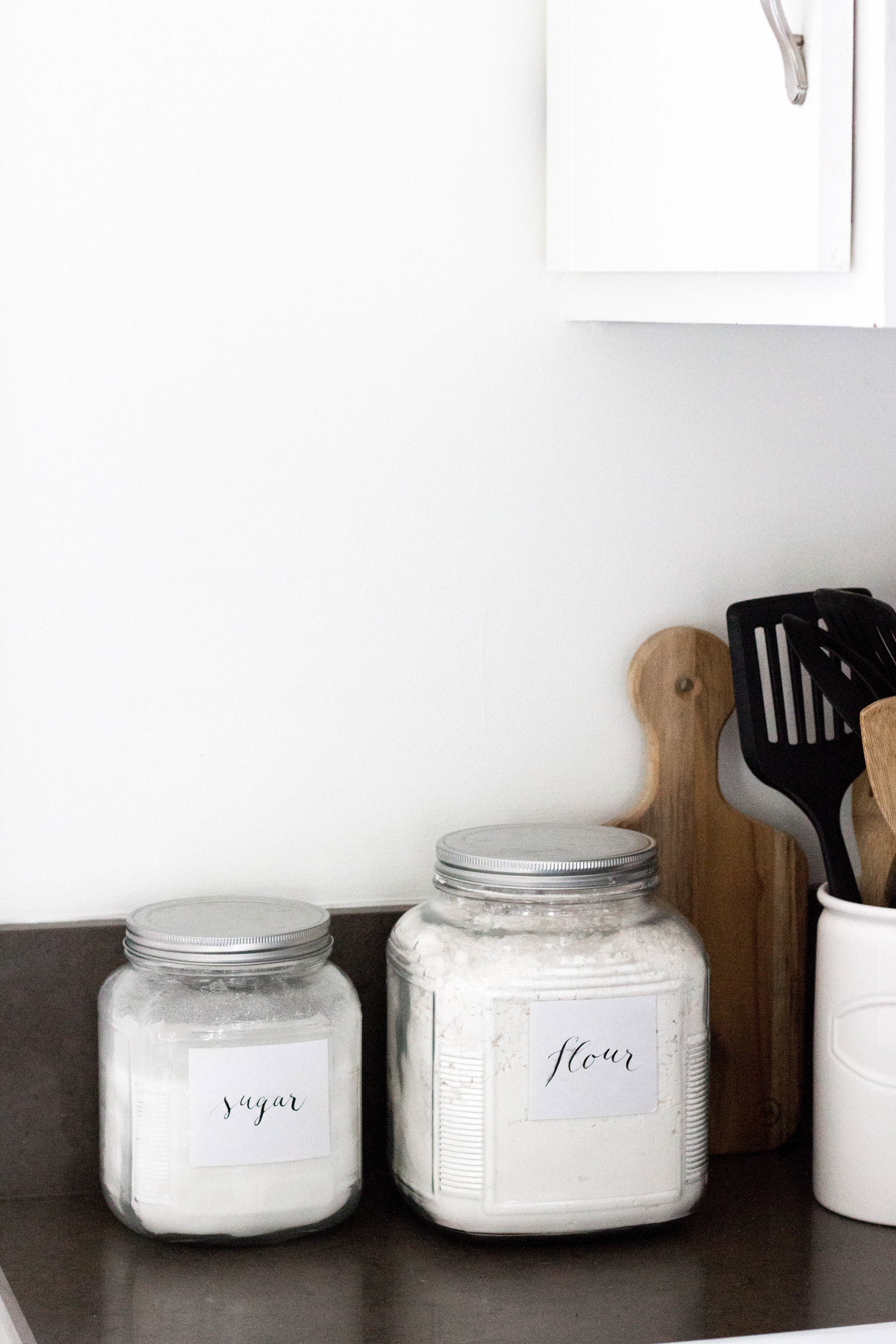 Pantry Jar Labels in Modern Calligraphy - True North Paper Co.