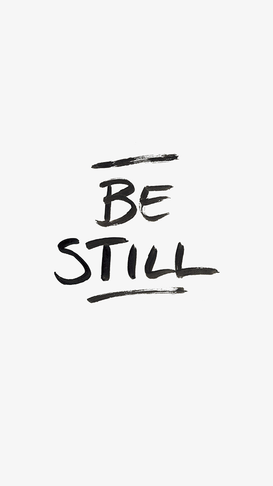 Be Still Lock Screen featuring Brush Hand Lettering - True North Paper Co.
