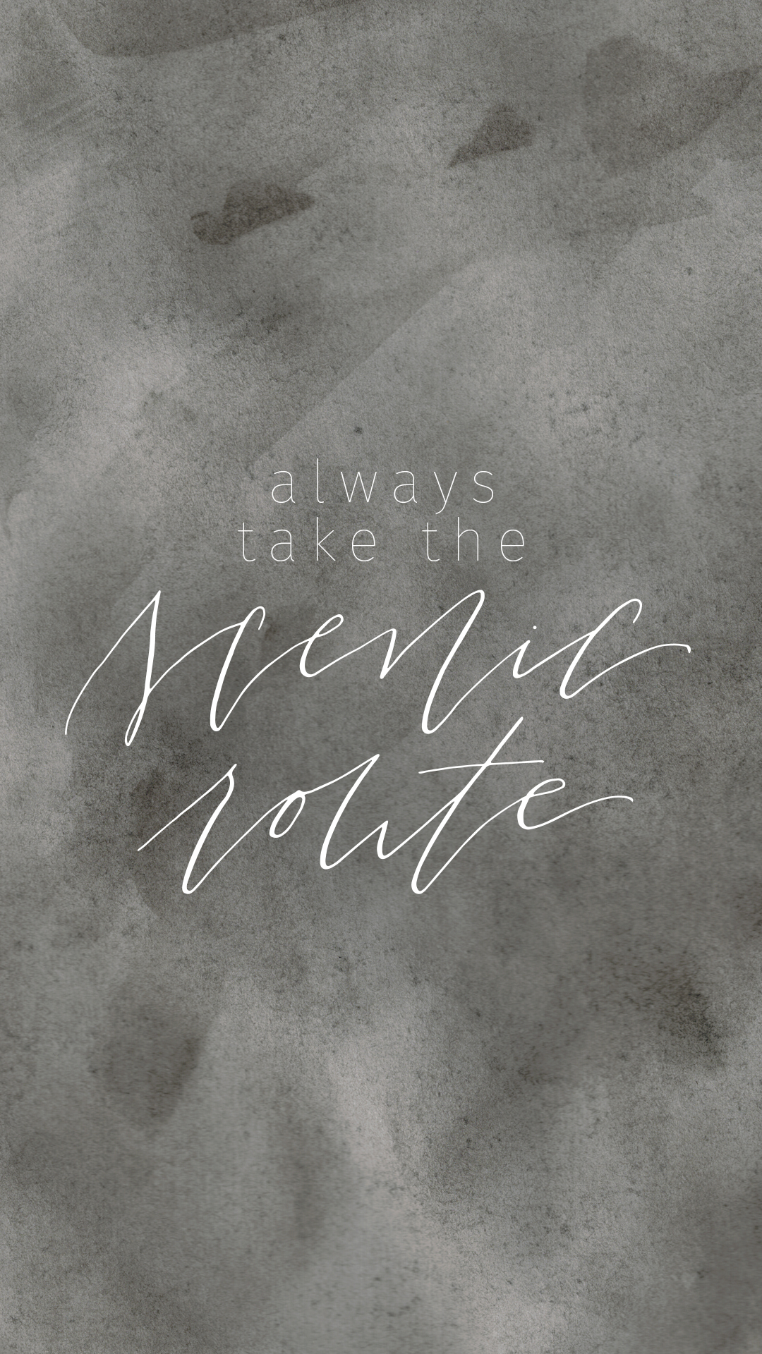 Travel Quote Inspired Lock Screen - Always Take the Scenic Route Digital Freebie - True North Paper Co. partnered with Bon Paper House