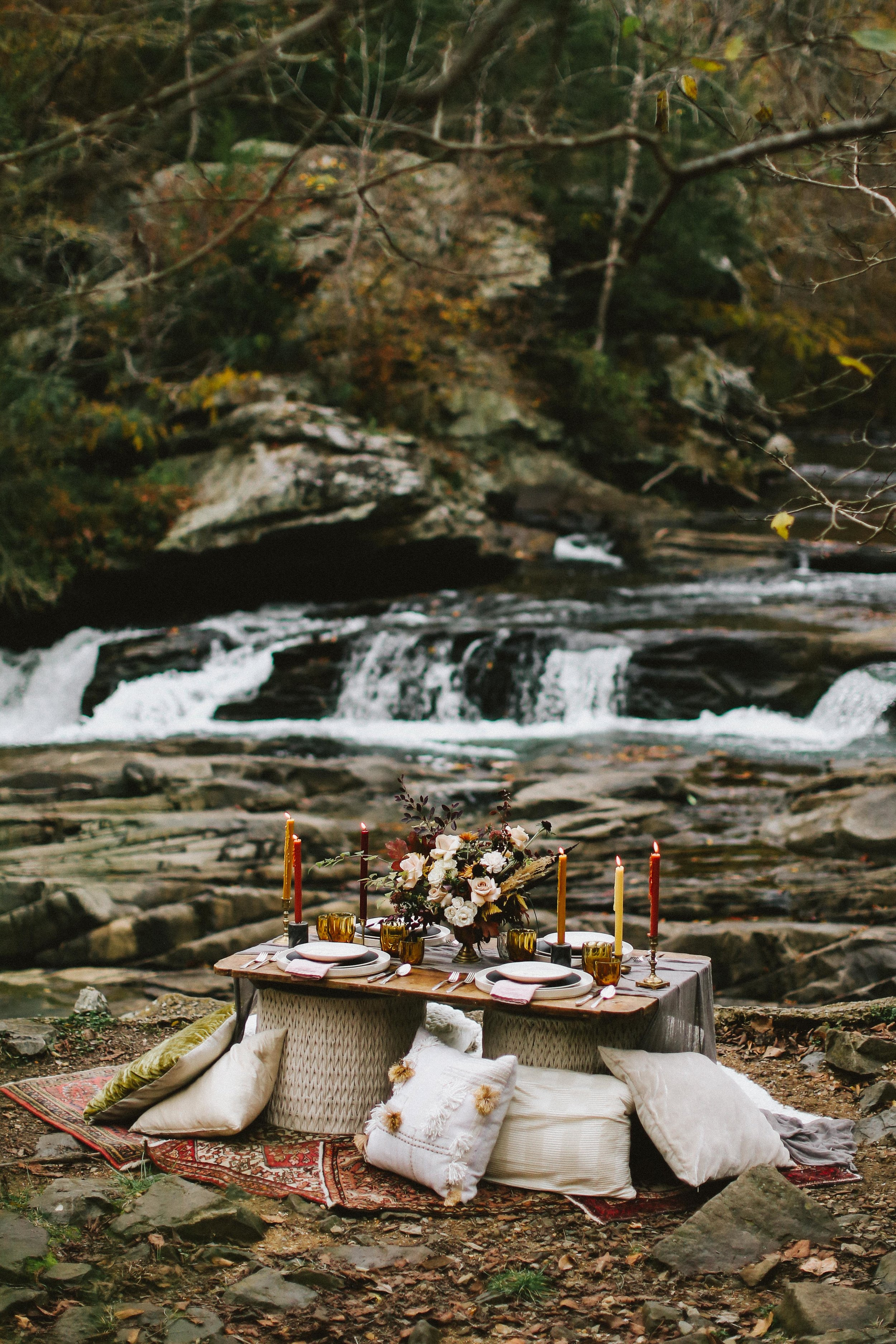 Autumn Tablescapes - Fall Wedding Shoot - Fall Color and Texture Wedding Ideas