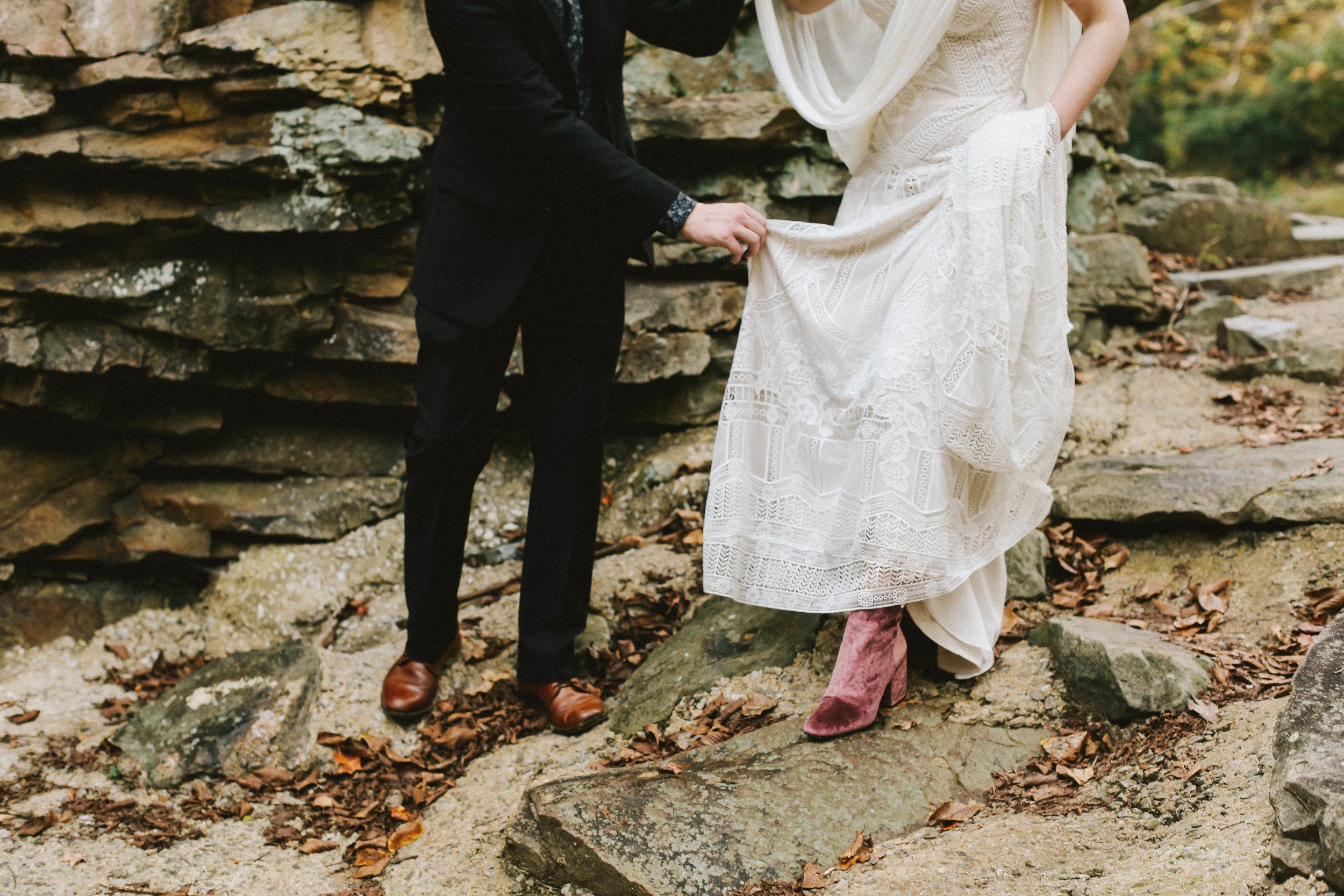 Folky Autumn Wedding Shoot - Rock and Roll Fall Wedding Ideas