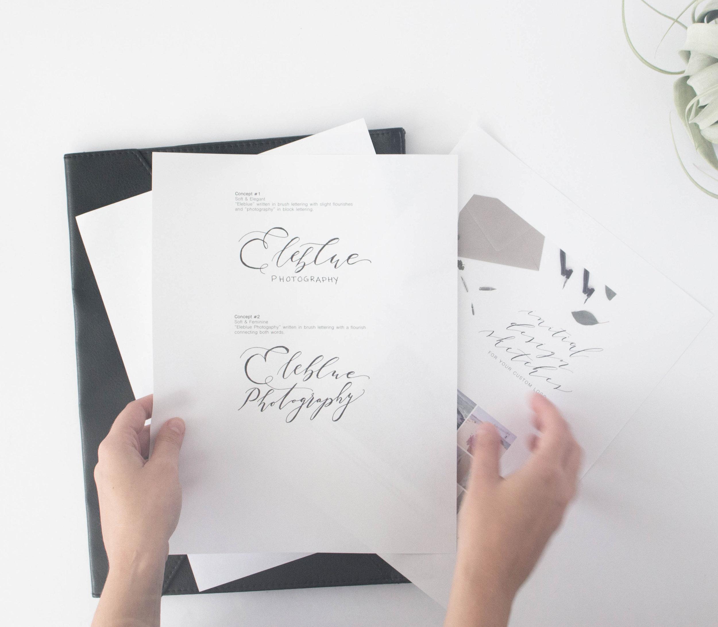 Custom Logo Sketches - True North Paper Co.