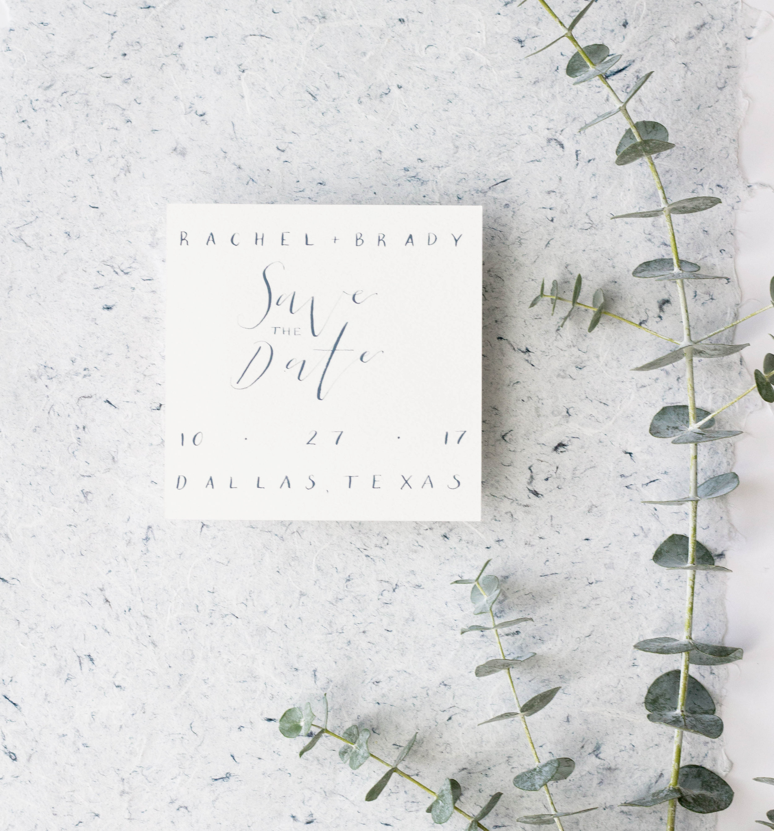 Minimalist Save the Date - Square Invitation - Wedding Stationery -  True North Paper Co.