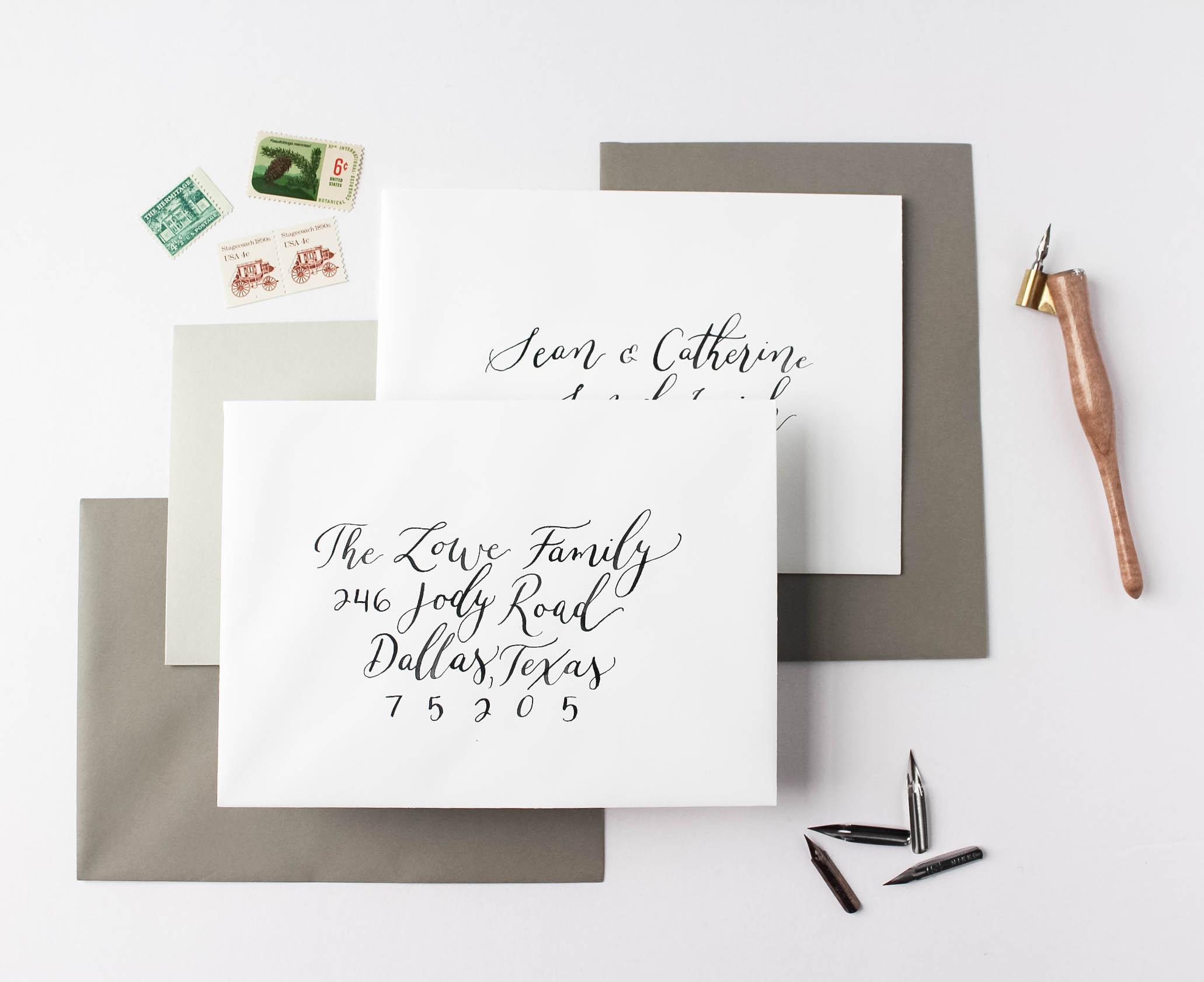 Envelope Addressing Etiquette Guidelines - Wedding Prep - Inner and Outer Envelopes - True North Paper Co.