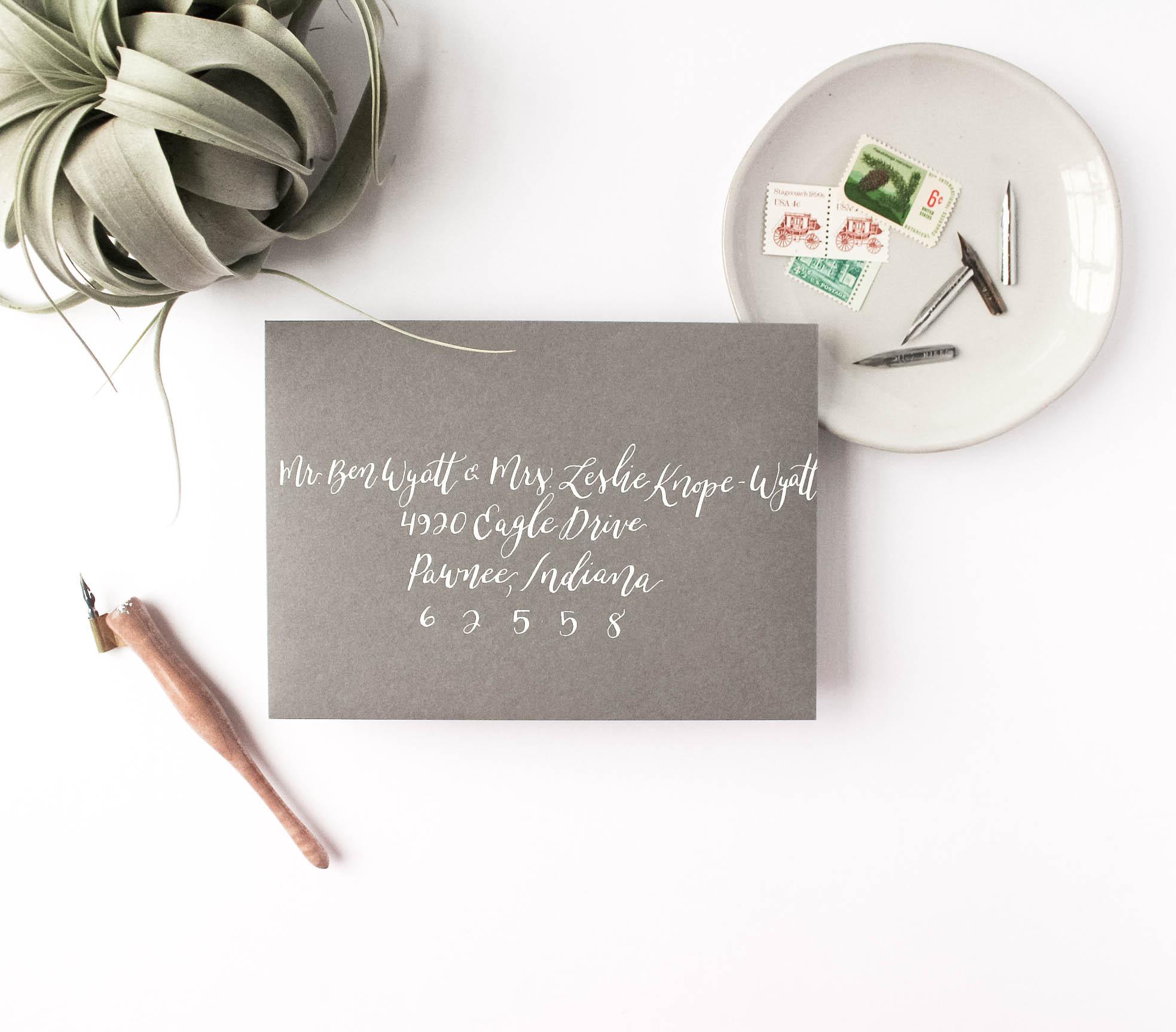 Wedding Envelope Etiquette - Tips for Addressing Envelopes - True North Paper Co