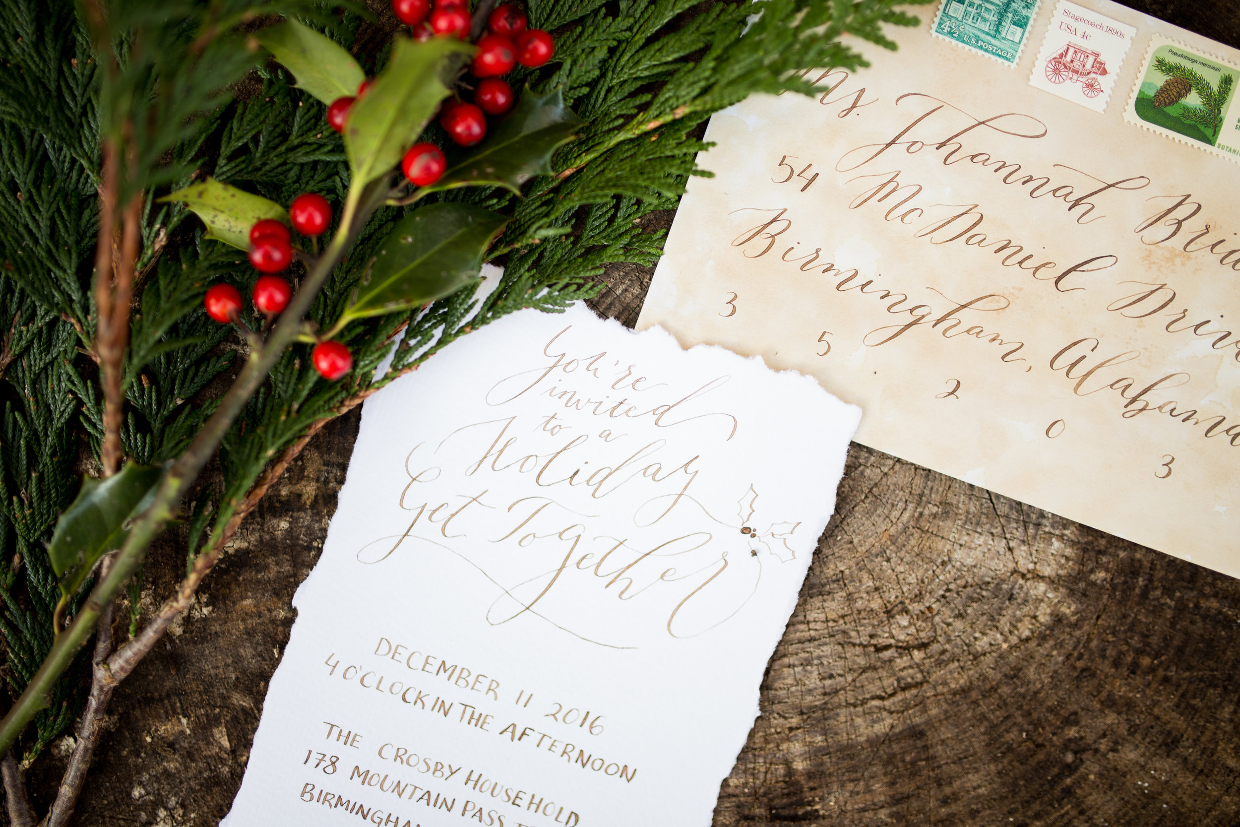 ChristmasPartyInvitation-ModernCalligraphy-TrueNorthPaperCo-EleanorStennerPhotography.jpg