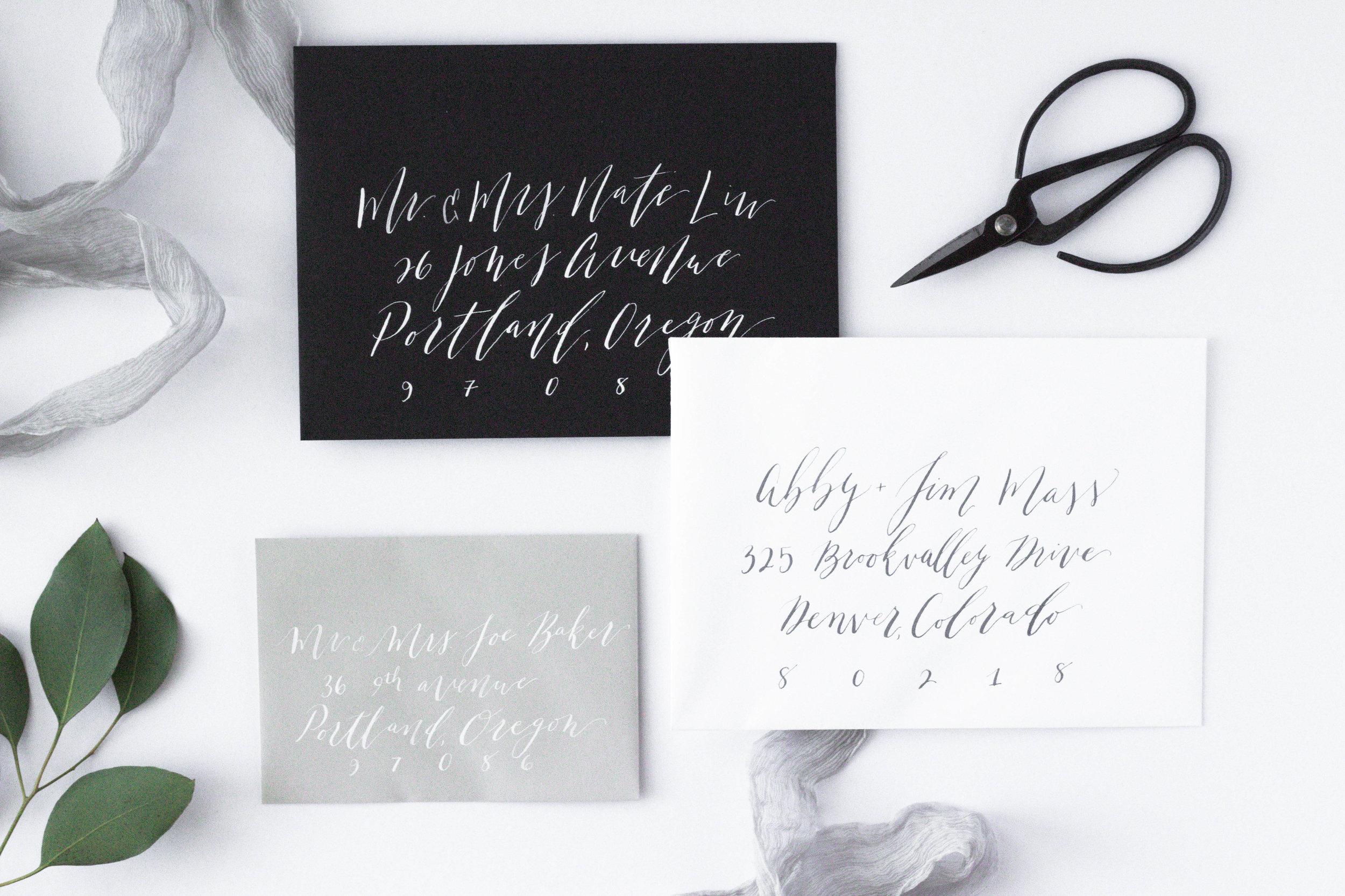 Envelope Addressing - Envelope Calligraphy