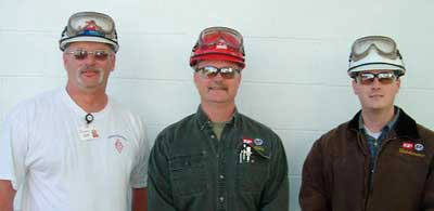 The ISP Calvert CIty maintenance personnel are pleased with the Emotron M20 solution. The team includes (from left to right) instrument/electrical planner Paul Myers and reliability engineers Ken Myers and Ryan Brown.