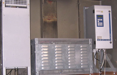 The retrofit involved installing a new electronic control system based on the Emotron VFX Variable Speed Drive, as well as replacing the eight drive motors.