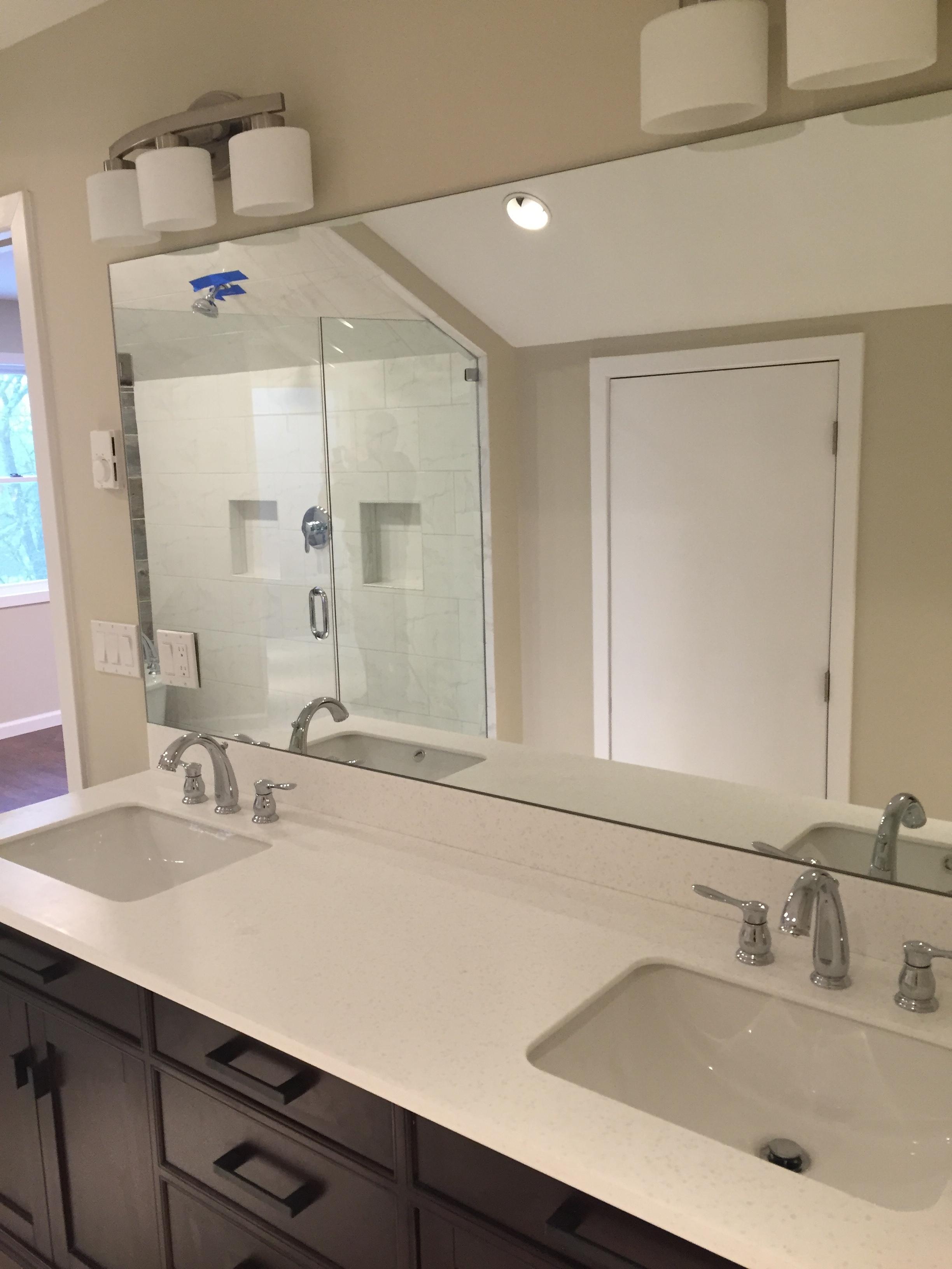 New Vanity in Bathroom Remodel in Waterford CT | Shaw Remodeling
