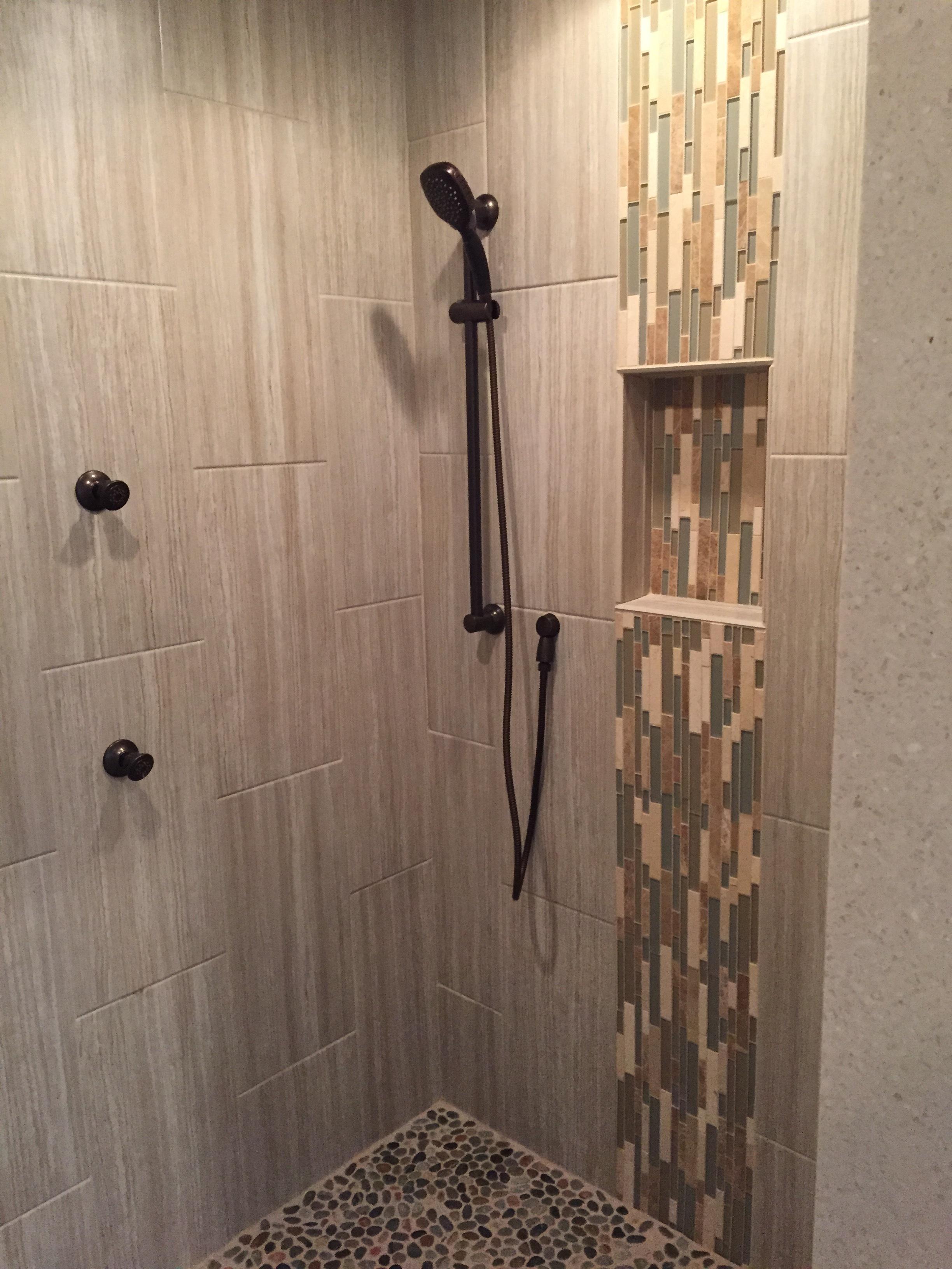 Tiled Shower in Master Bathroom Renovation in Niantic CT | Shaw Remodeling