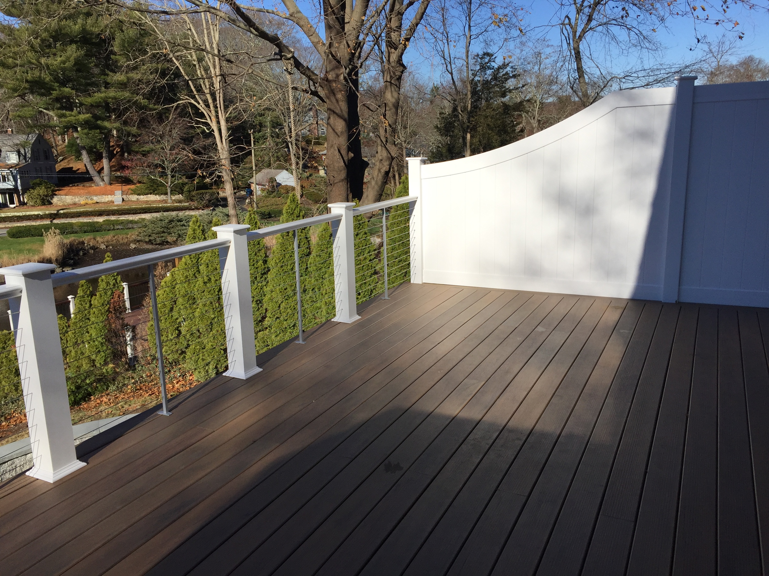 Stone Patio and New Deck in Waterford CT | Shaw Remodeling