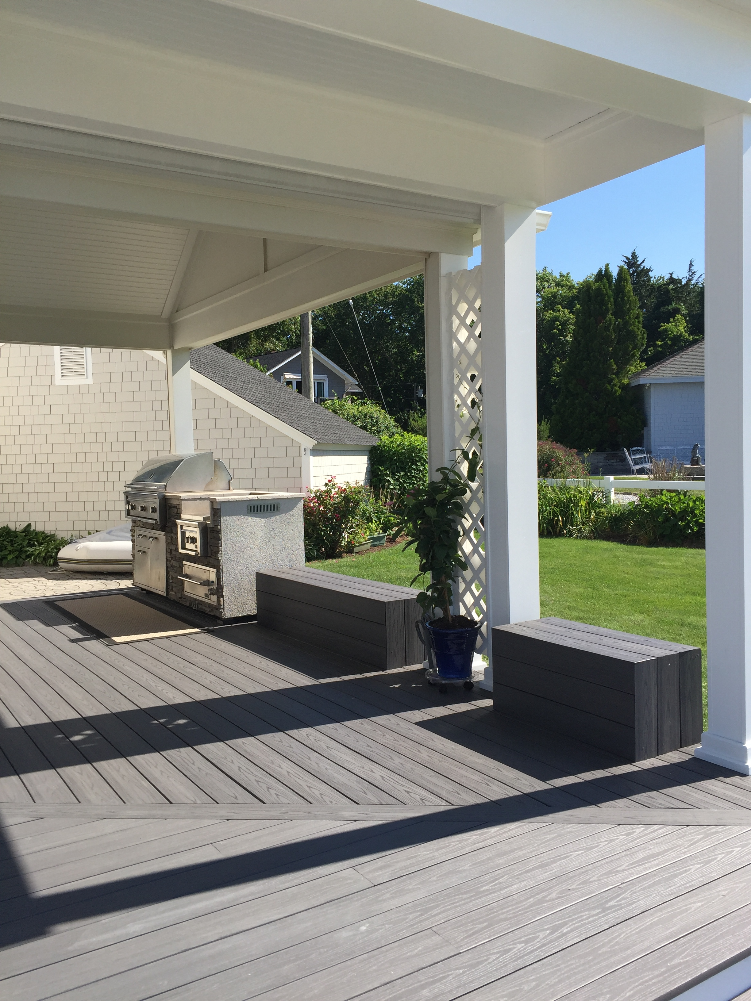 Deck Remodel Two Level in Old Lyme CT | Shaw Remodeling