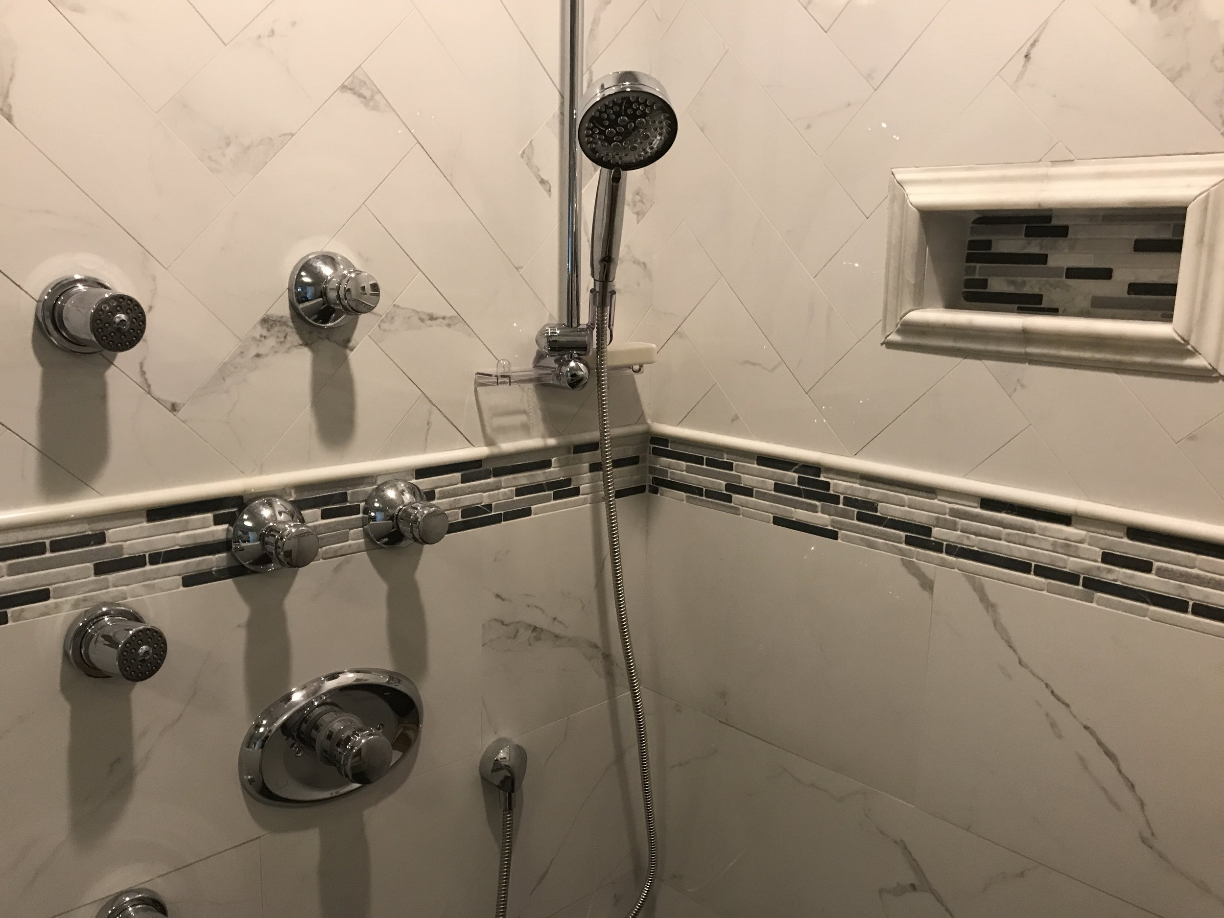 Tiled Shower in Bathroom Remodel in Waterford CT | Shaw Remodeling