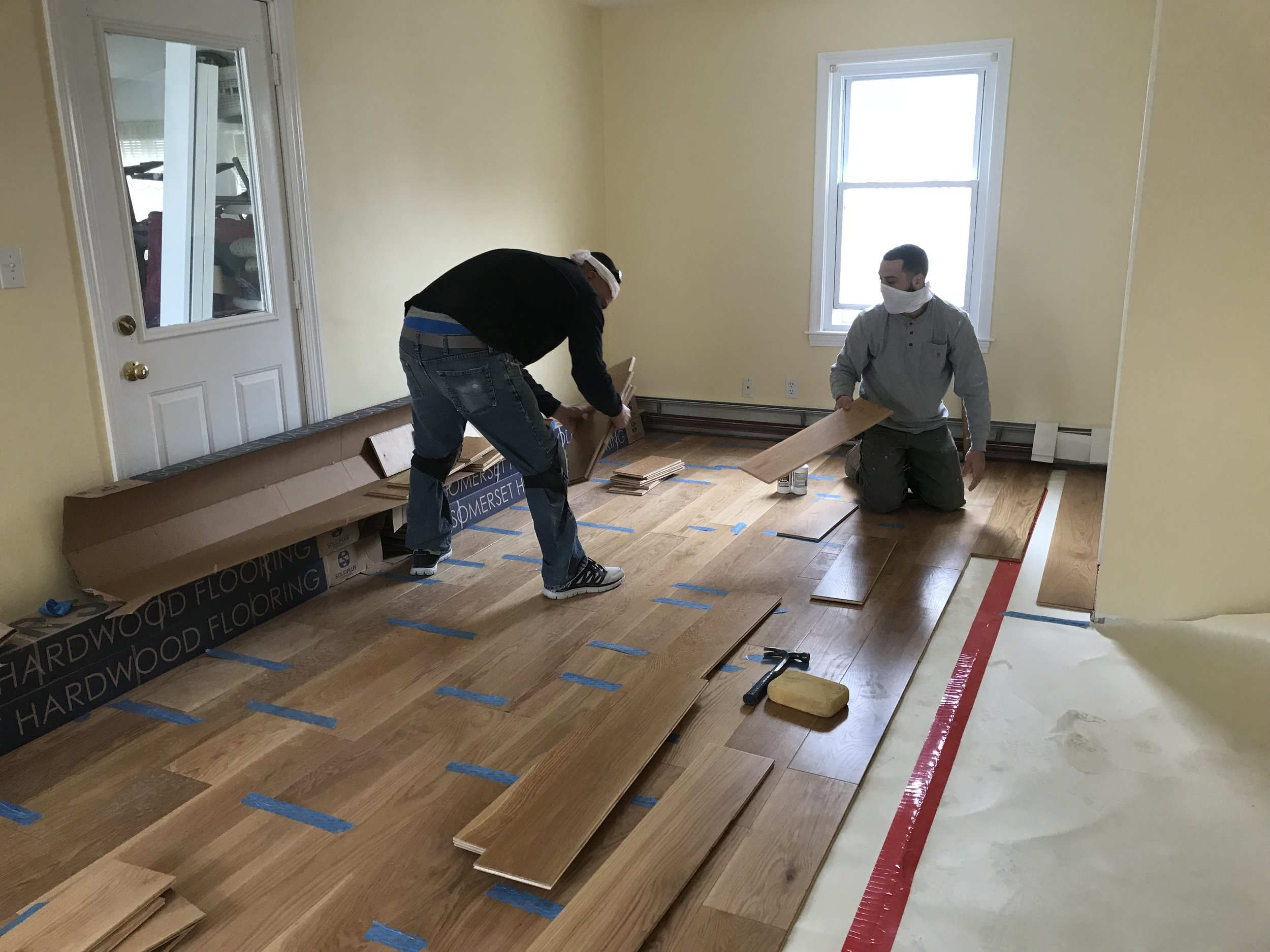 Shaw Remodeling - Progress photo - Kitchen and living room renovations with new flooring - Niantic CT  (4).jpg