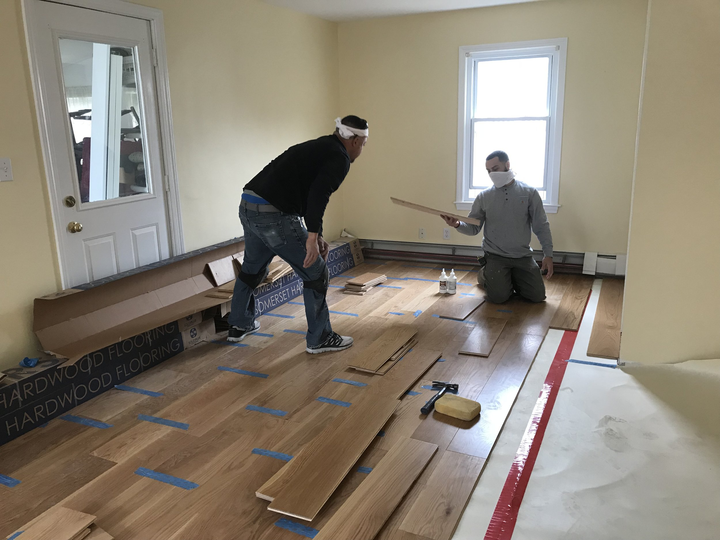Shaw Remodeling - Progress photo - Kitchen and living room renovations with new flooring - Niantic CT  (5).jpg