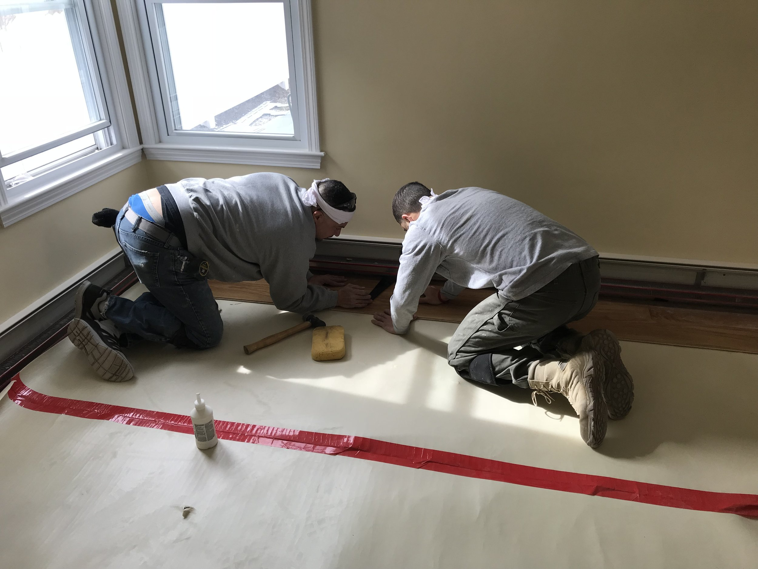 Shaw Remodeling - Progress photo - Kitchen and living room renovations with new flooring - Niantic CT  (7).jpg