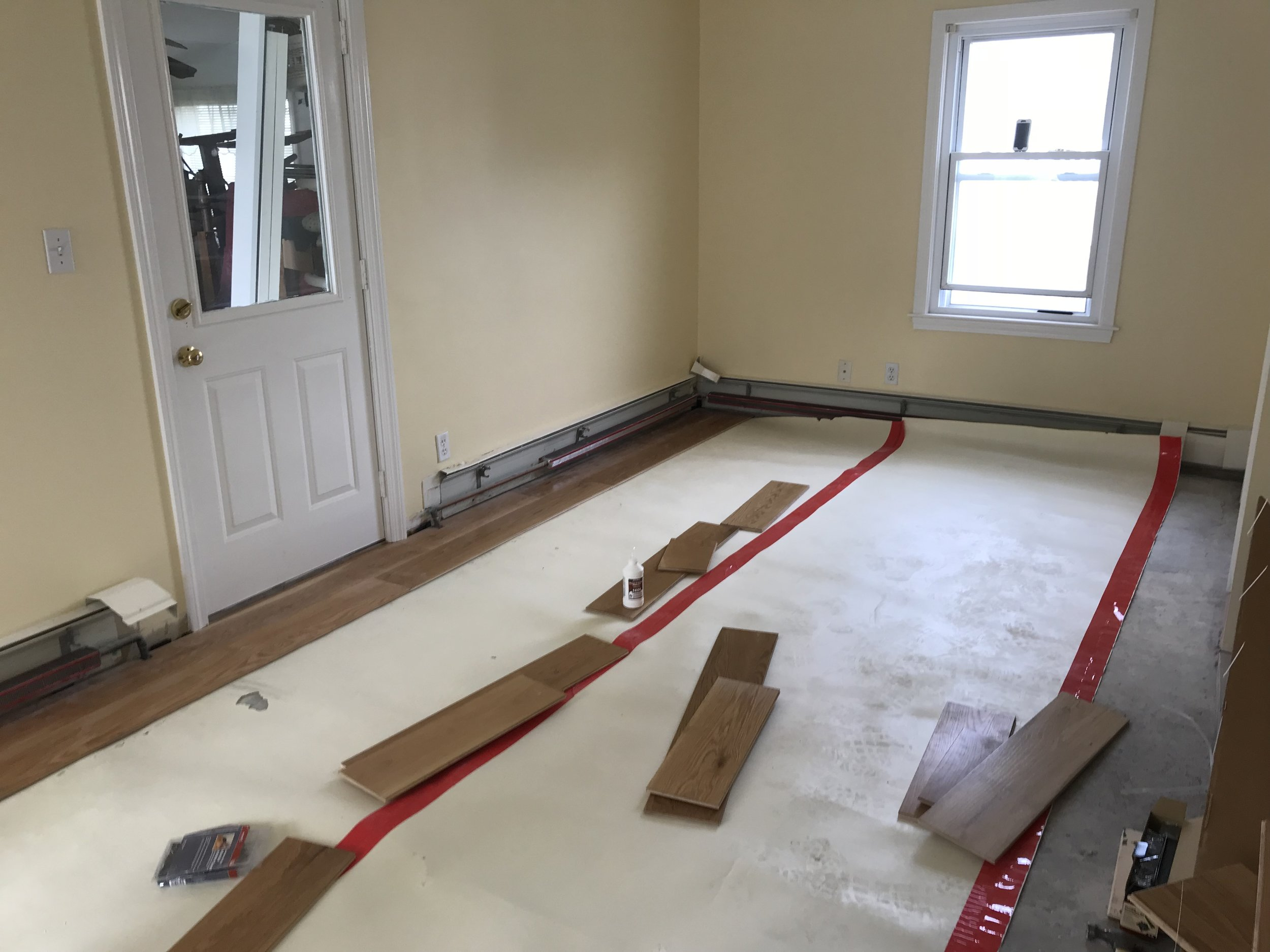 Shaw Remodeling - Progress photo - Kitchen and living room renovations with new flooring - Niantic CT  (9).jpg