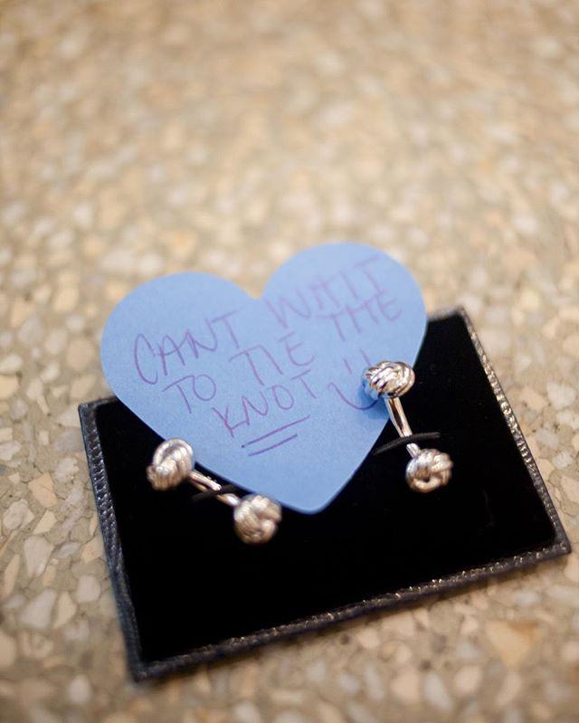 Is this not the sweetest wedding day gift?! *swoon*
