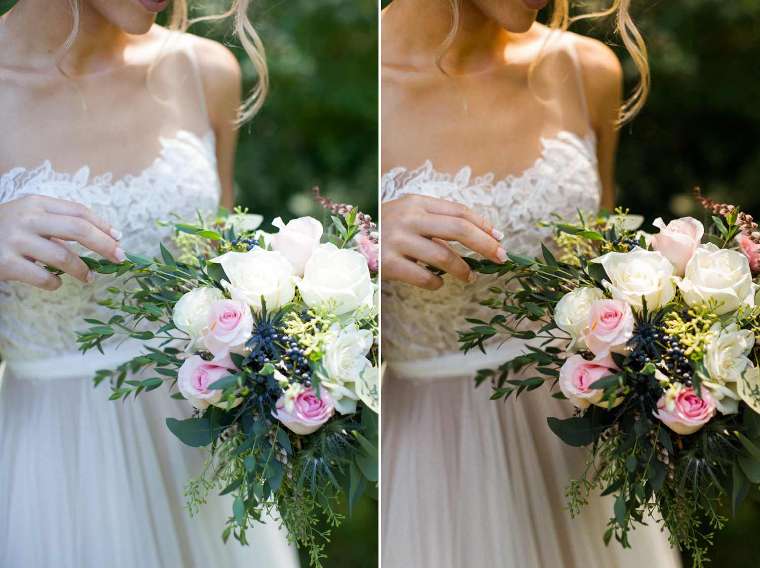 Such a gorgeous bouquet - I adjusted the color tone from a cool blue to a warmer yellow (more like the natural sunlight) and increased the contrast to make the image feel richer.