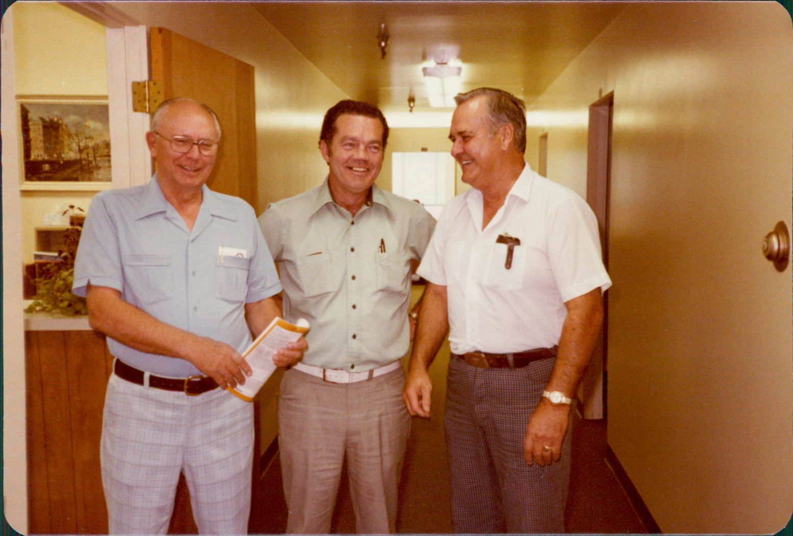 Eveson, Lincoln & Bob Brogoitti - 1979