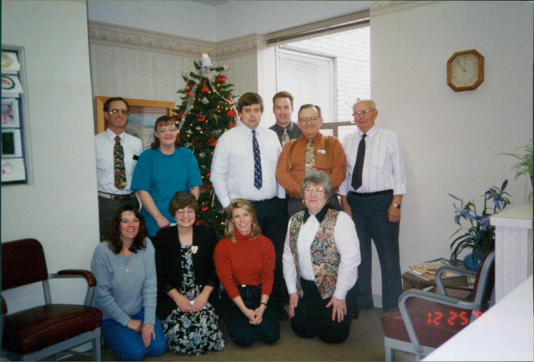 Lewis, Brenda Swart, Moeller, Dan McDonald, Snyder, Eveson, Pam Profily, Judy Clemens, Amber Yates & Betty Turley - 1996 Christmas