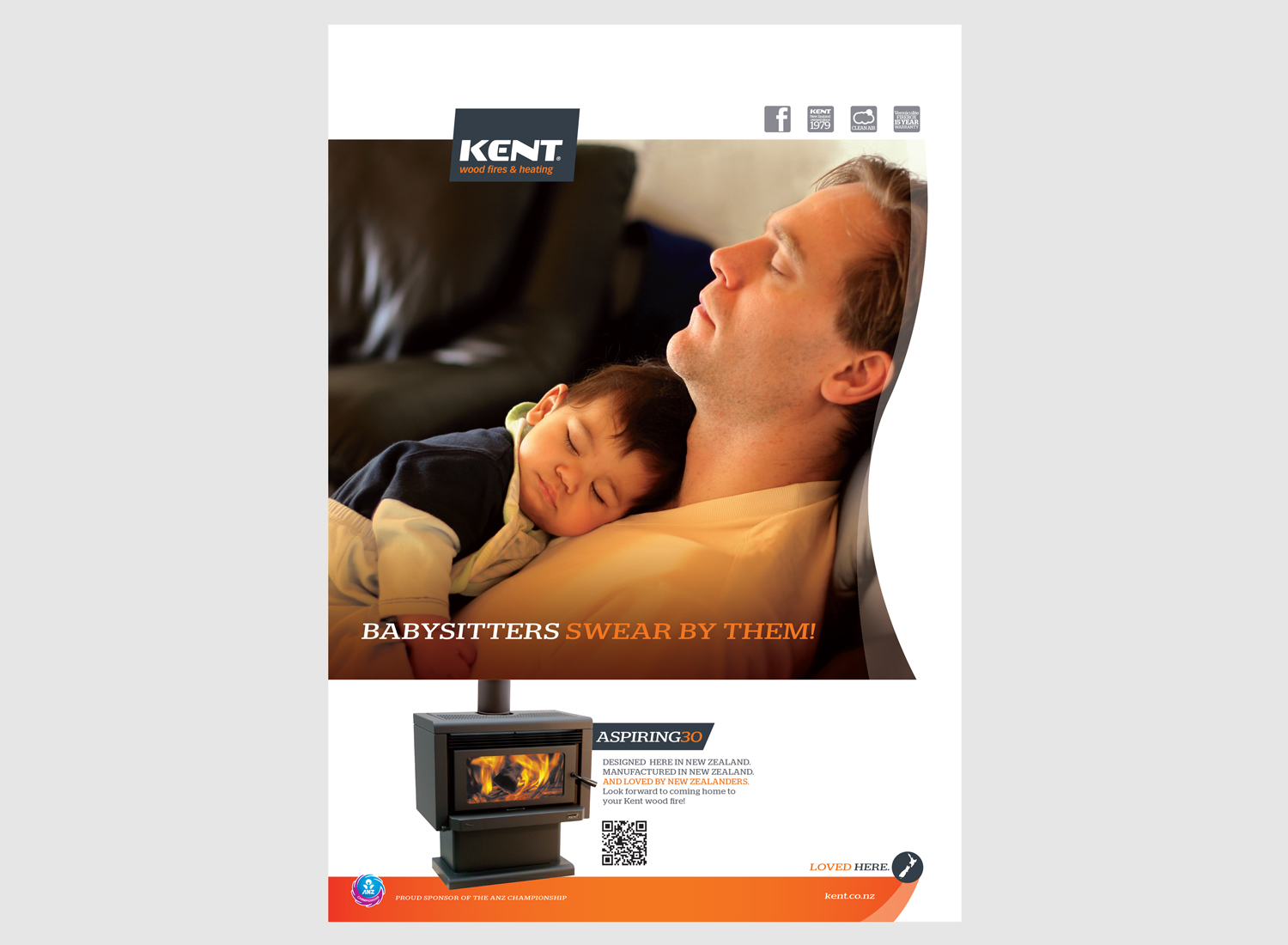 Ad and poster campaign for Kent fires