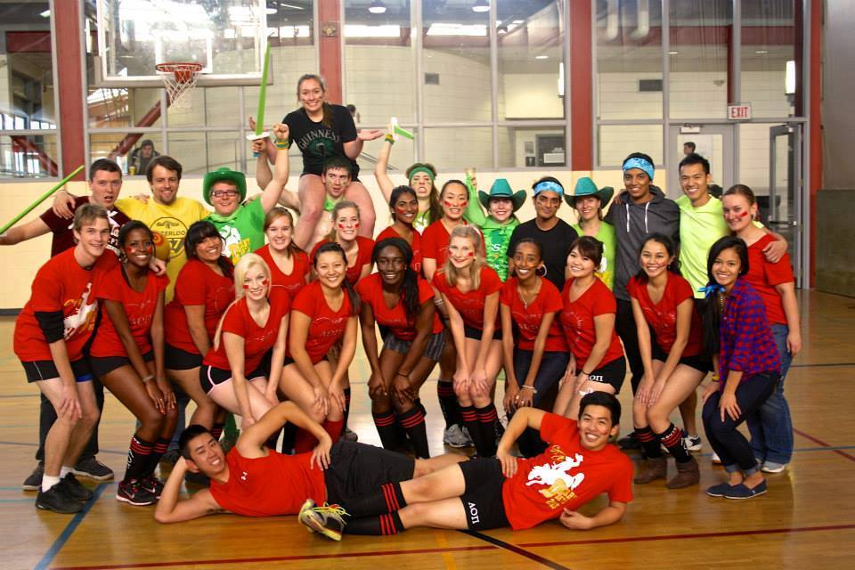 The brothers and sisters of Greek life compete in a fund raising dodgeball competition.