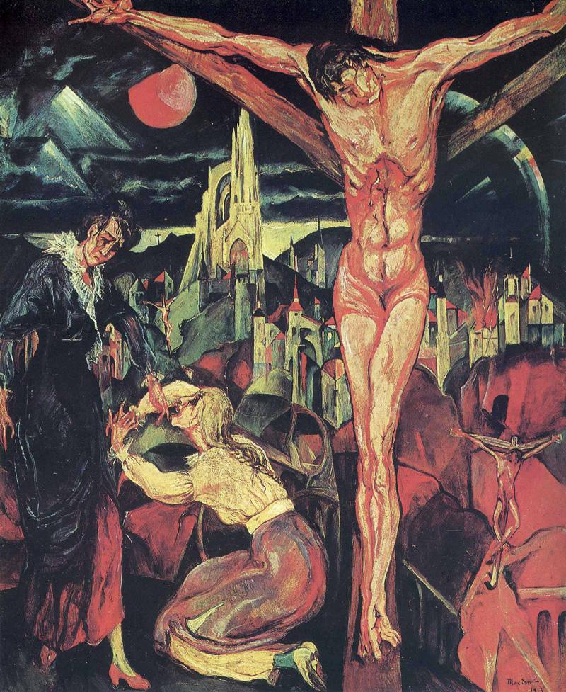 Max Ernest, Crucifixion ,1913.   PLACEMENTS: COSTAS | PEITO & ABD | 1 PEITO, OMBRO & ABD |