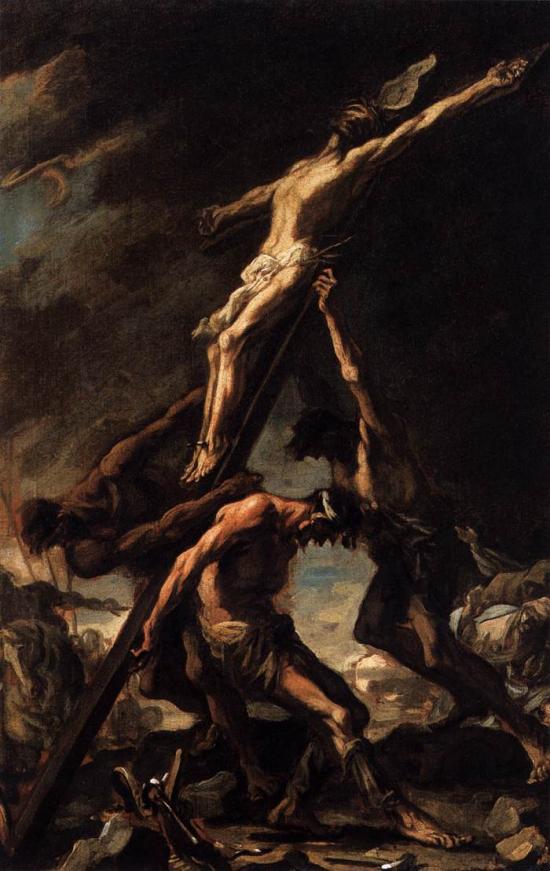 Alessandro Magnasco, Raising of the Cross   Placements: COSTAS & GLÚTEOS | PEITO & ABD | CABEÇA, PEITO, PESCOÇO, ABD & COXA | CABEÇA, PESCOÇO, COSTAS, GLÚTEO |