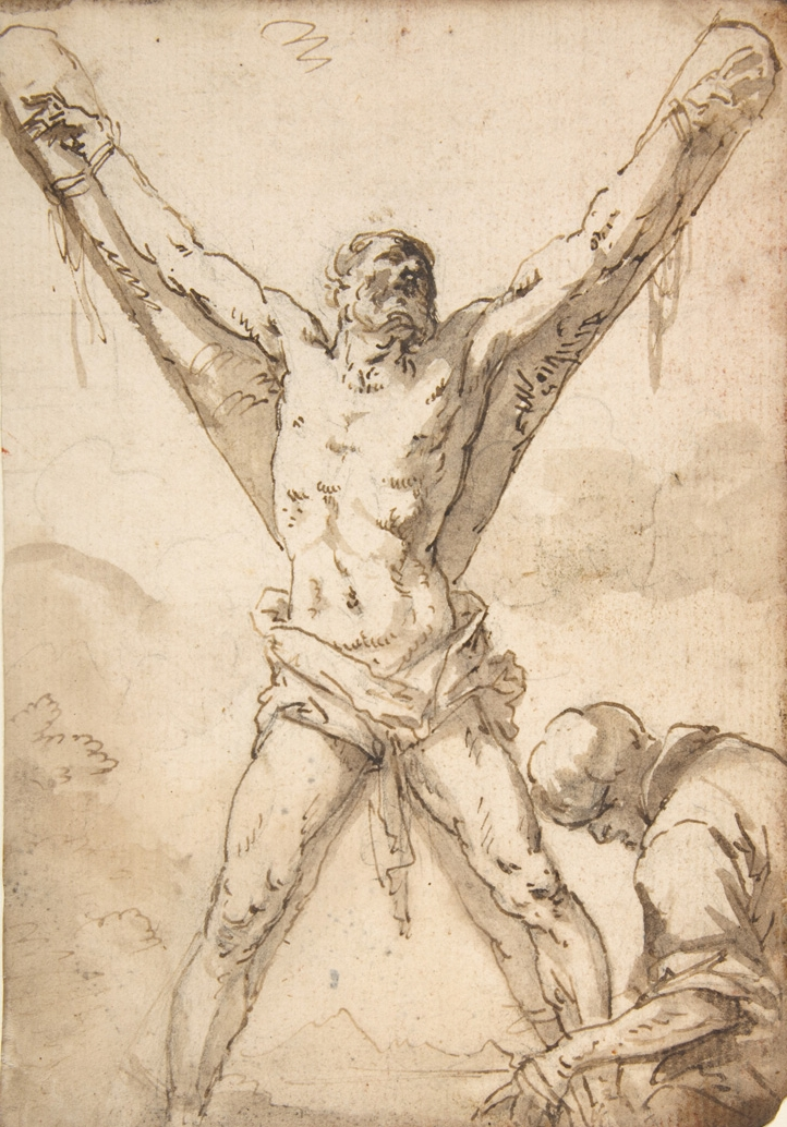 Salvator Rosa, Martyrdom of St. Andrew, 1615/1673.   PLACEMENTS:  COSTS | PEITO & ABD | 1 BRAÇO, PEITO & ABD |