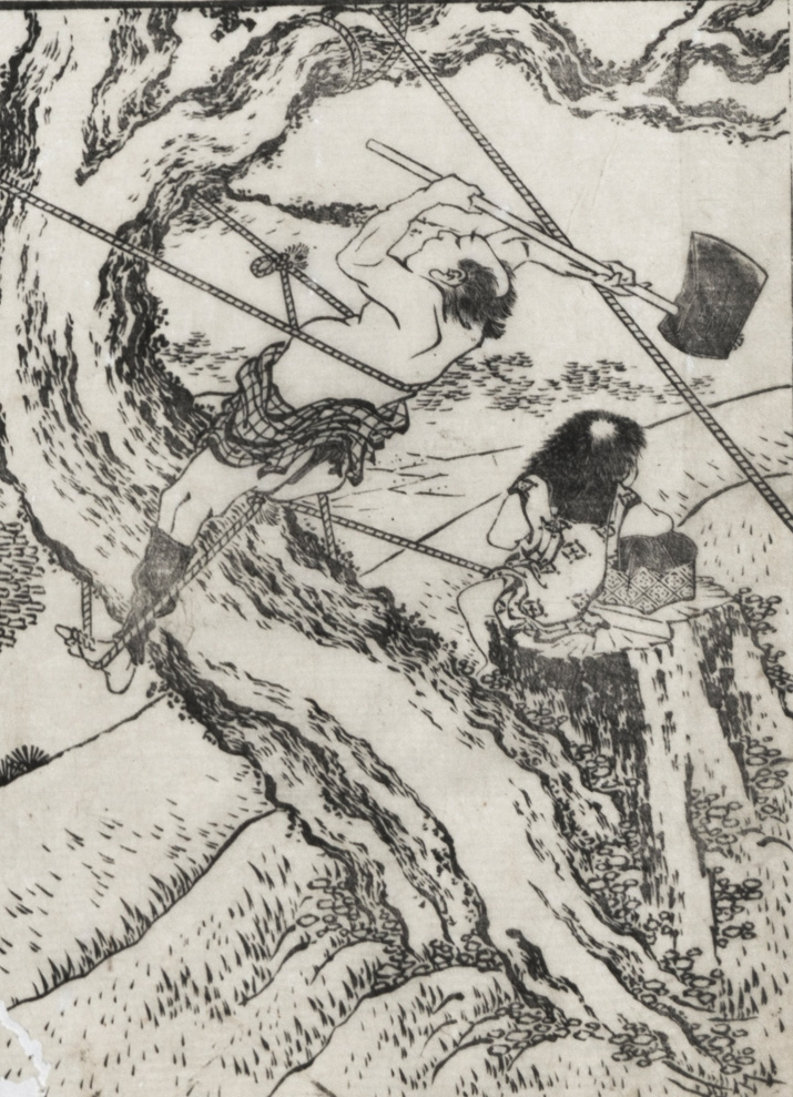 Examples of Hokusai's Drawing.